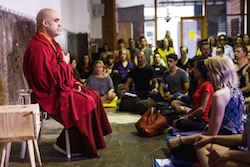 An audience with Gelong Thubten
