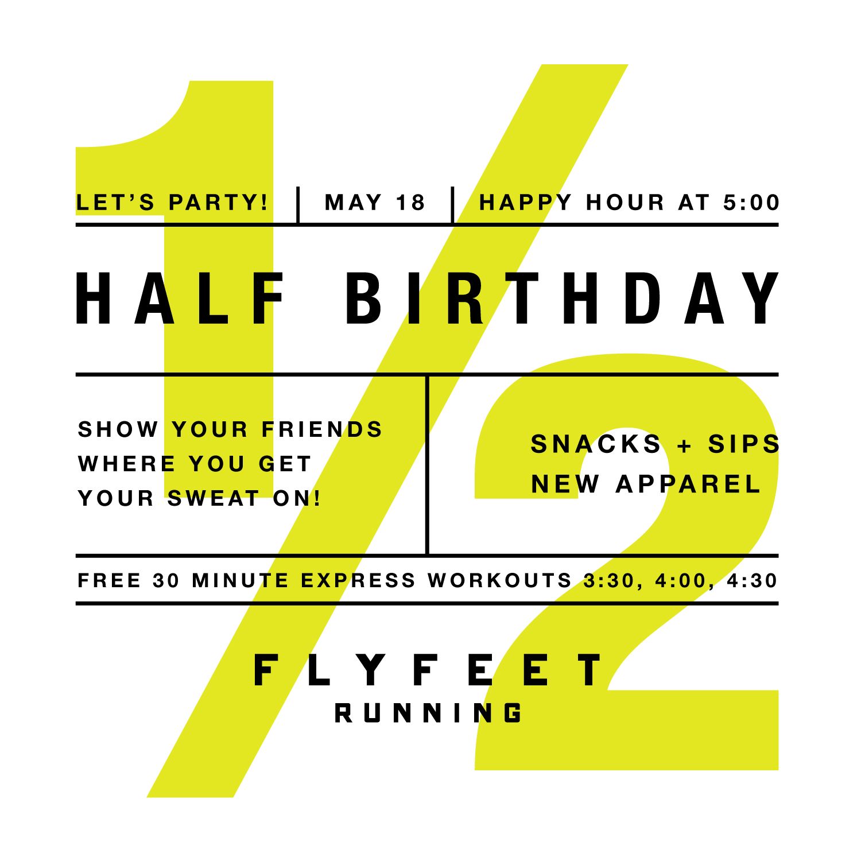 Fly Feet Running - Half Birthday Party