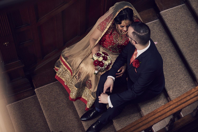 The couple escape for a romantic moment… -