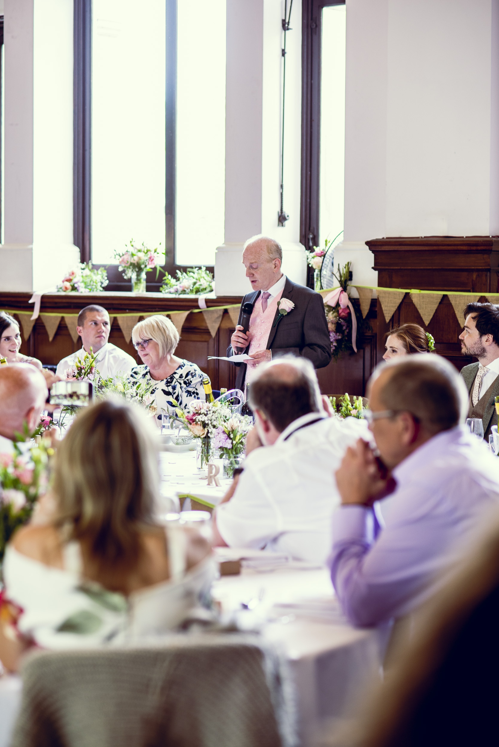 The Father of the Bride & the Groom made their speeches. -