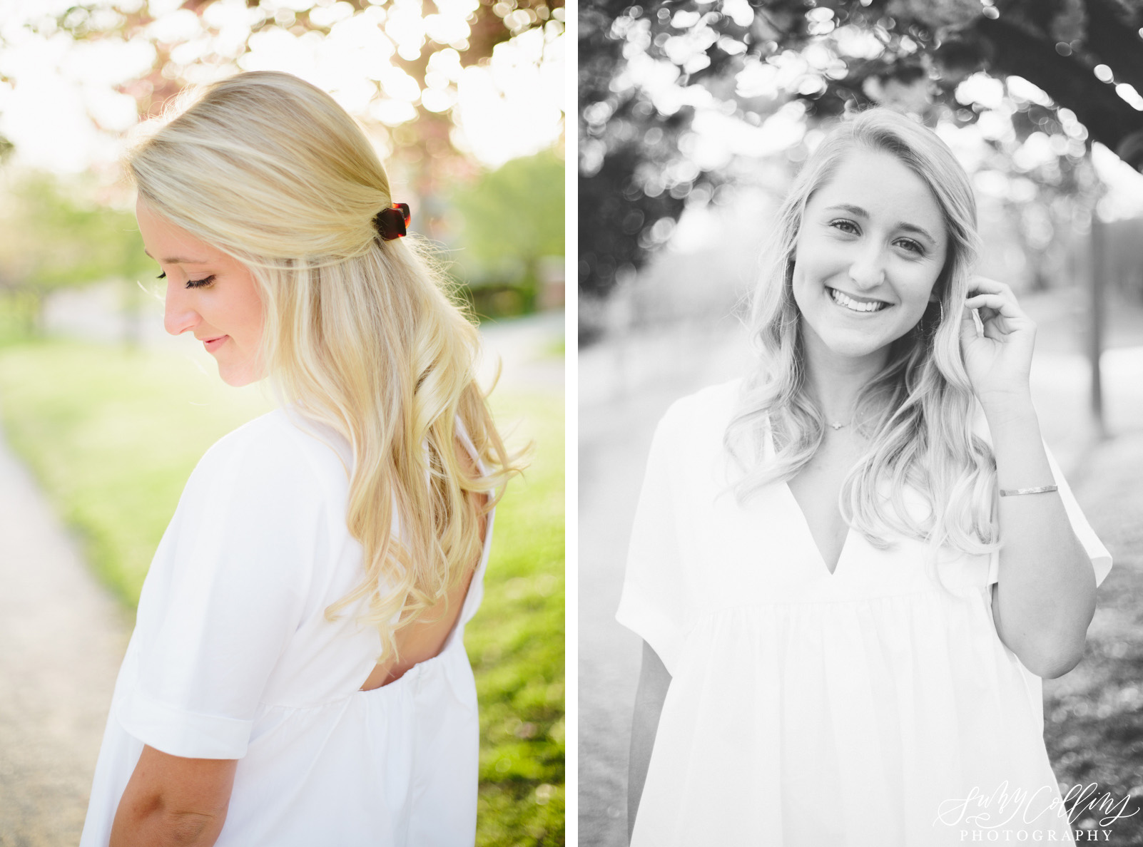 knoxville, Sequoyah hills, female, senior, portraits, graduate, university of Tennessee, Knoxville, poses, cherry blossoms, outfits, ideas, college, inspiration, natural light, light and airy, vibrant, colorful, bright, outdoors, head shots, sunset, black and white