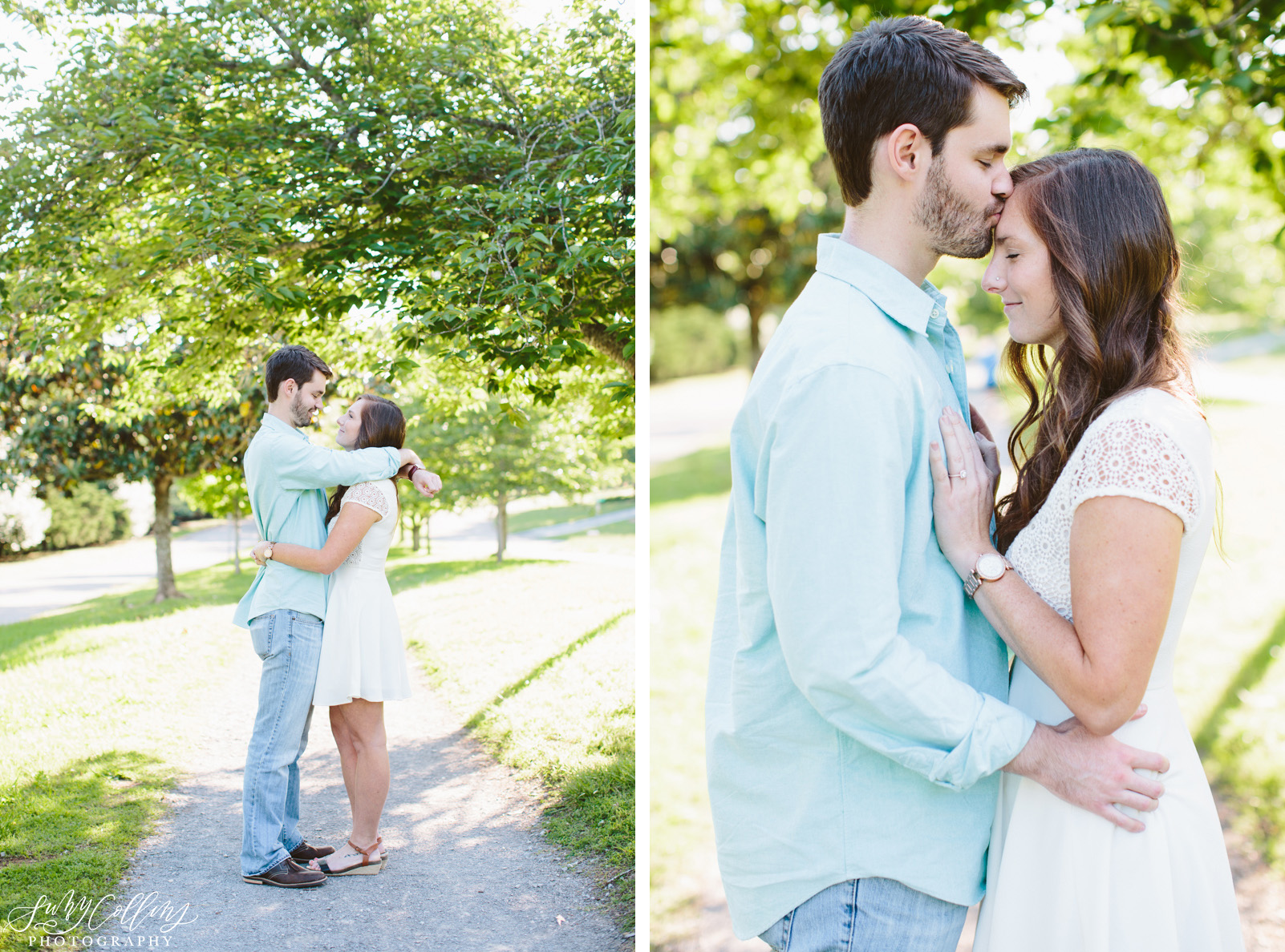 poses, couples, outdoor, Sequoyah hills, Knoxville, Tennessee, engagement, sunset, evening, love, vibrant, colorful, bright, creative, romantic, natural, light and airy, natural light, passion, inspiration, intimate