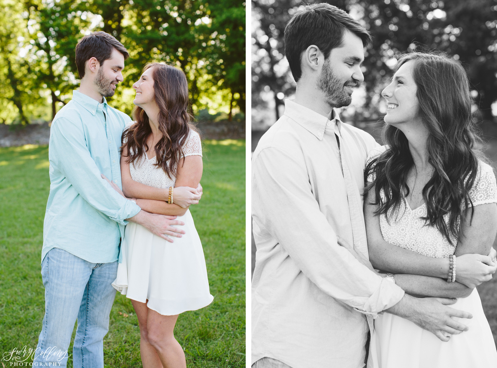 poses, couples, outdoor, Sequoyah hills, Knoxville, Tennessee, engagement, sunset, evening, love, vibrant, colorful, bright, creative, romantic, natural, light and airy, natural light, passion, inspiration, intimate, black and white