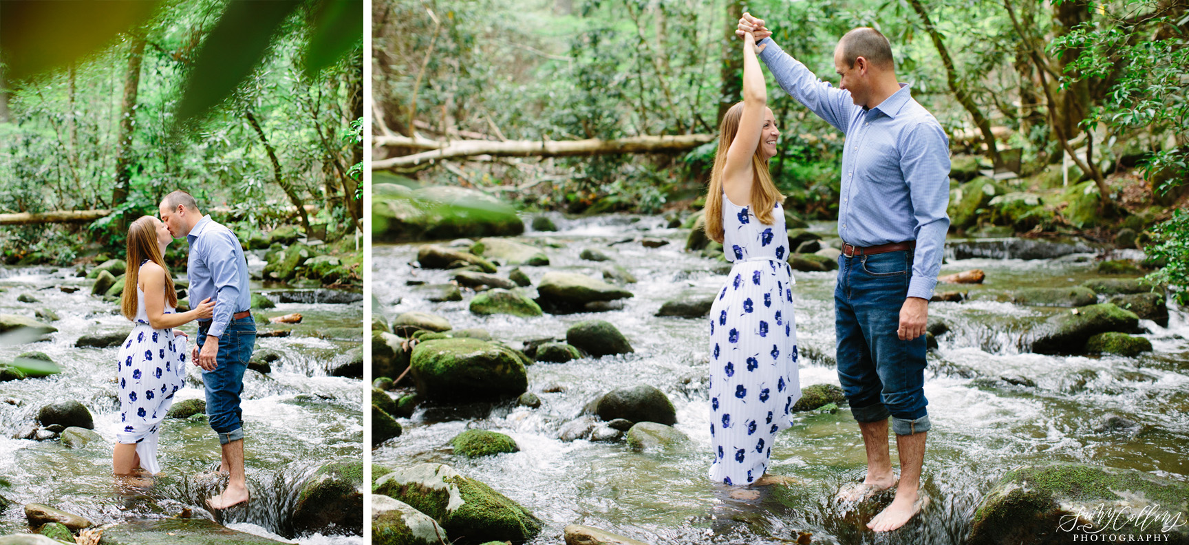 poses, couples, outdoor, Mynatt park, Knoxville, Tennessee, engagement, sunset, evening, love, vibrant, colorful, bright, creative, romantic, natural, light and airy, natural light, passion, inspiration, intimate, outfits, fountain, woods, river, park