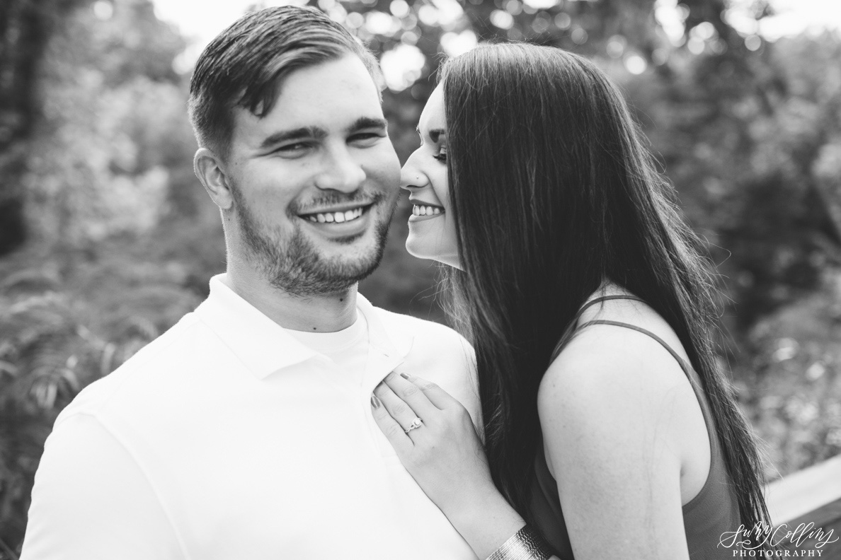 poses, couples, outdoor, meads quarry, Knoxville, Tennessee, engagement, sunset, evening, love, vibrant, colorful, bright, creative, romantic, natural, light and airy, natural light, passion, inspiration, intimate, outfits, fountain, woods, pond, park, black and white