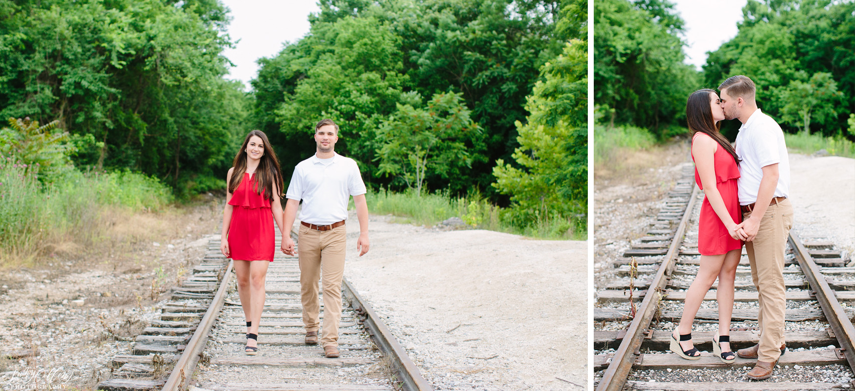 poses, couples, outdoor, meads quarry, Knoxville, Tennessee, engagement, sunset, evening, love, vibrant, colorful, bright, creative, romantic, natural, light and airy, natural light, passion, inspiration, intimate, outfits, fountain, woods, pond, park, railroad