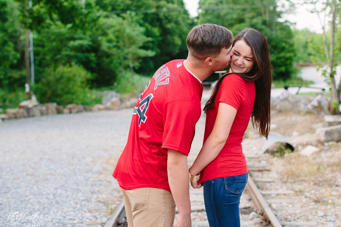 poses, couples, outdoor, meads quarry, Knoxville, Tennessee, engagement, sunset, evening, love, vibrant, colorful, bright, creative, romantic, natural, light and airy, natural light, passion, inspiration, intimate, outfits, fountain, woods, pond, park, jersey, kiss