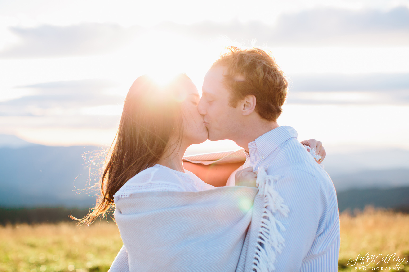 poses, couples, outdoor, max patch, Knoxville, Tennessee, engagement, sunset, evening, love, vibrant, colorful, bright, creative, romantic, natural, light and airy, natural light, passion, inspiration, intimate, outfits, fountain, woods, field, sunrise, windy, North Carolina, kiss, cuddling