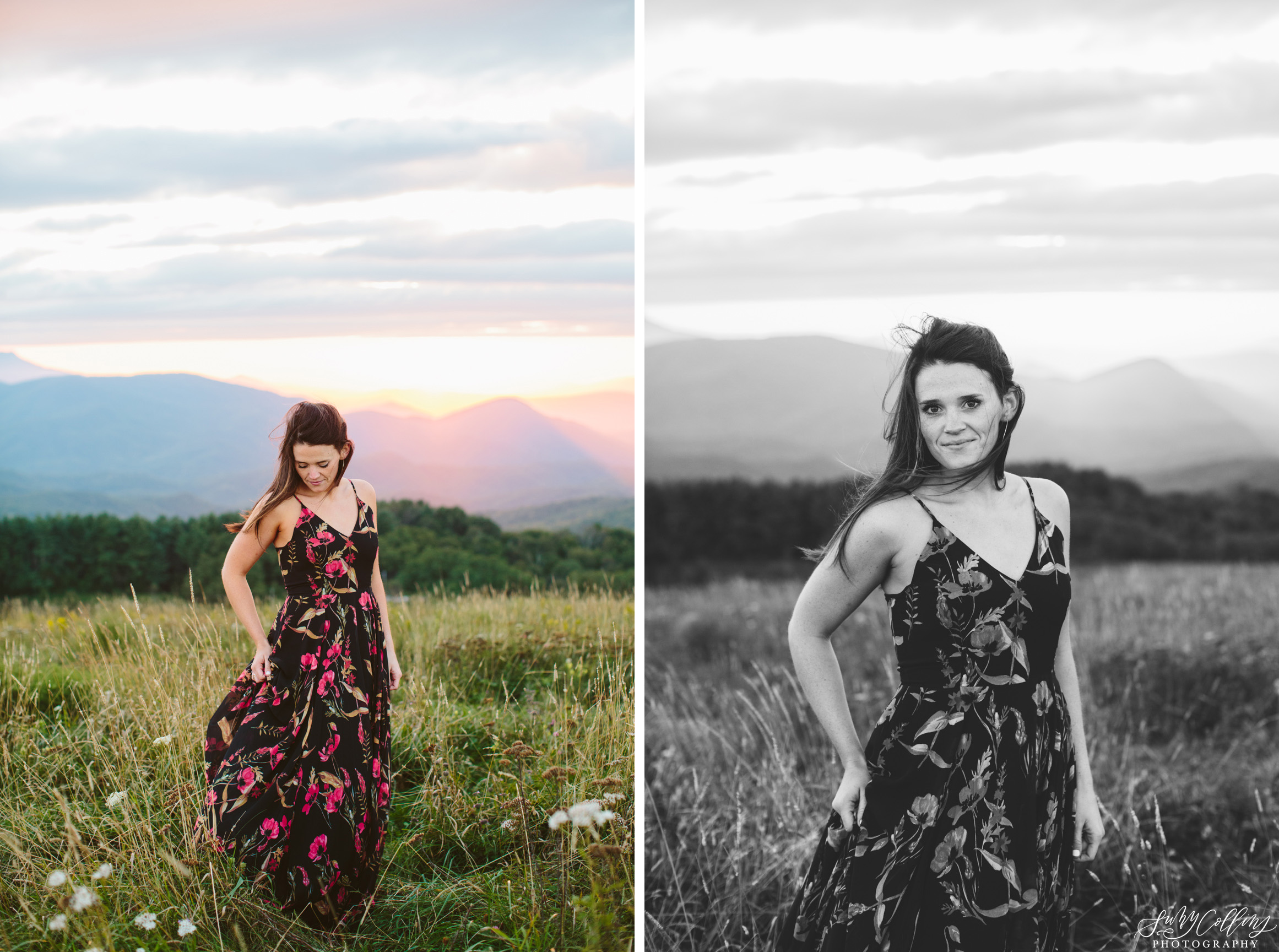 poses, couples, outdoor, max patch, Knoxville, Tennessee, engagement, sunset, evening, love, vibrant, colorful, bright, creative, romantic, natural, light and airy, natural light, passion, inspiration, intimate, outfits, fountain, woods, field, sunrise, windy, North Carolina, black and white, bride