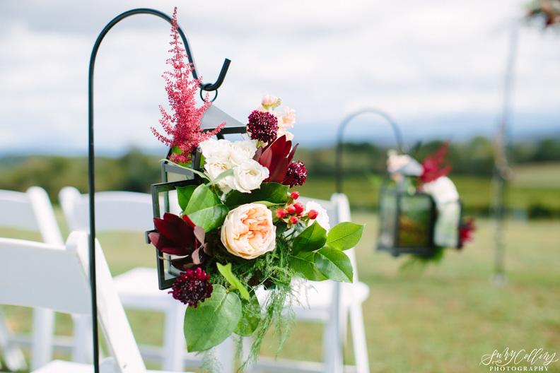 Fall Vineyard Wedding Aisle