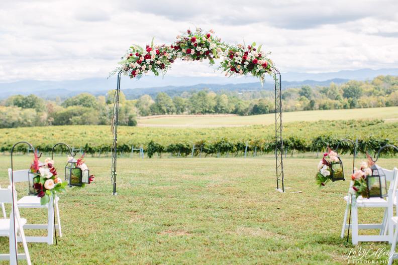 Fall Vineyard Wedding Arbor
