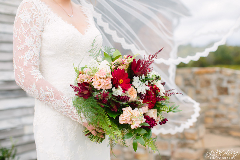 Fall Vineyard Windy Wedding