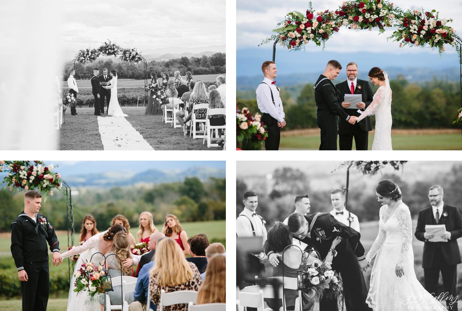 Candid Fall Vineyard Wedding