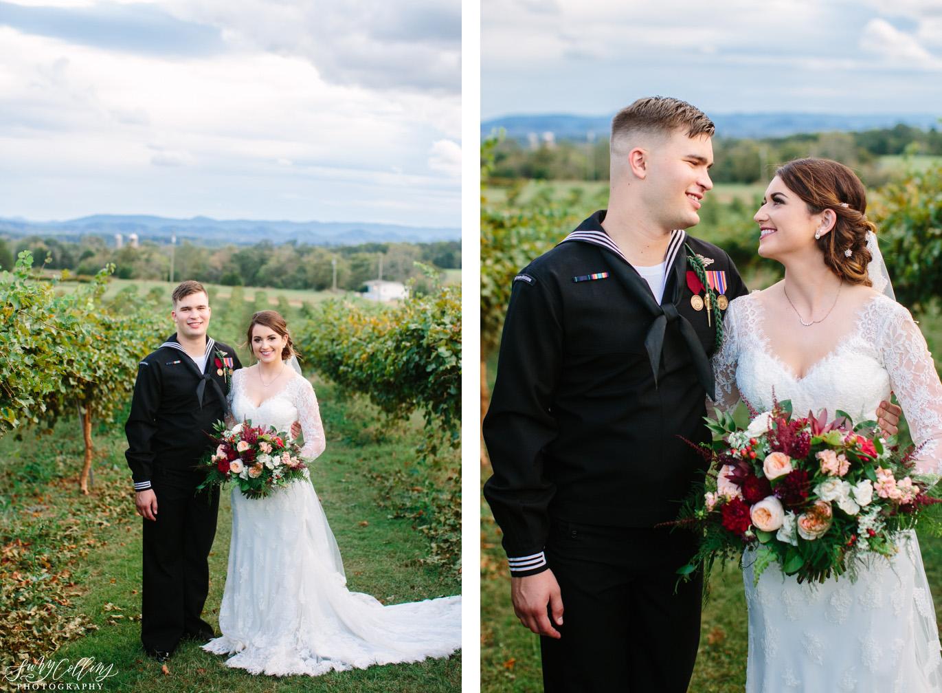 Fall Vineyard Mountain Wedding Portraits