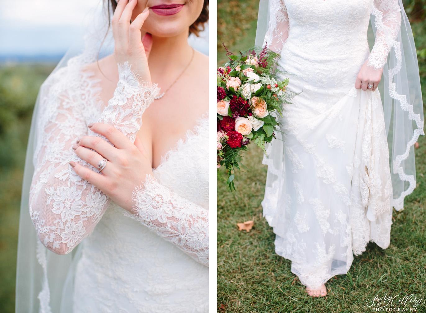 Fall Vineyard Mountain Wedding Bridal Details
