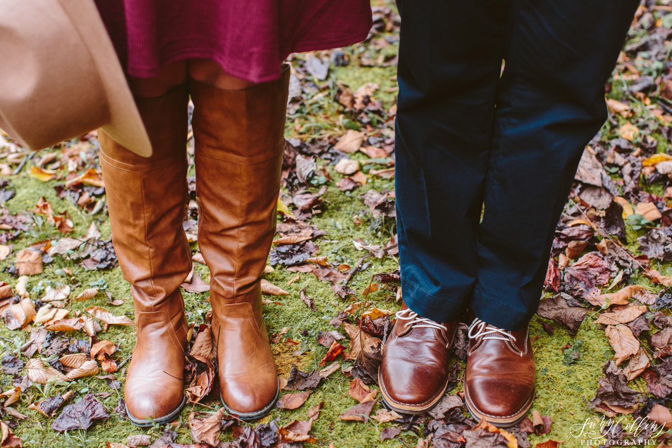 Fall Woods Engagement Boots Hat