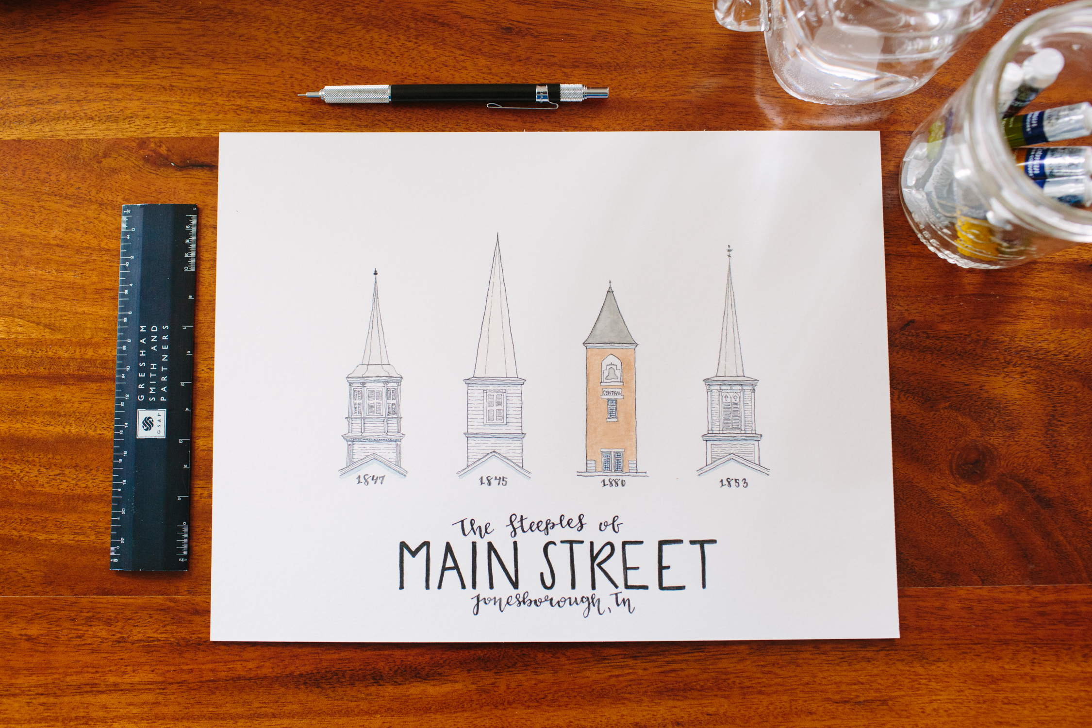Knoxville Branding Photographer Water Color Prints