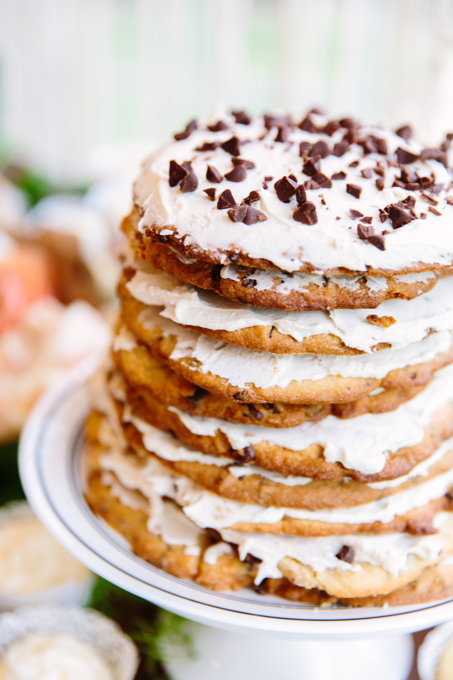 Knoxville Photographer Modern Bohemian Wedding Chocolate Chip Cookie Wedding Cake