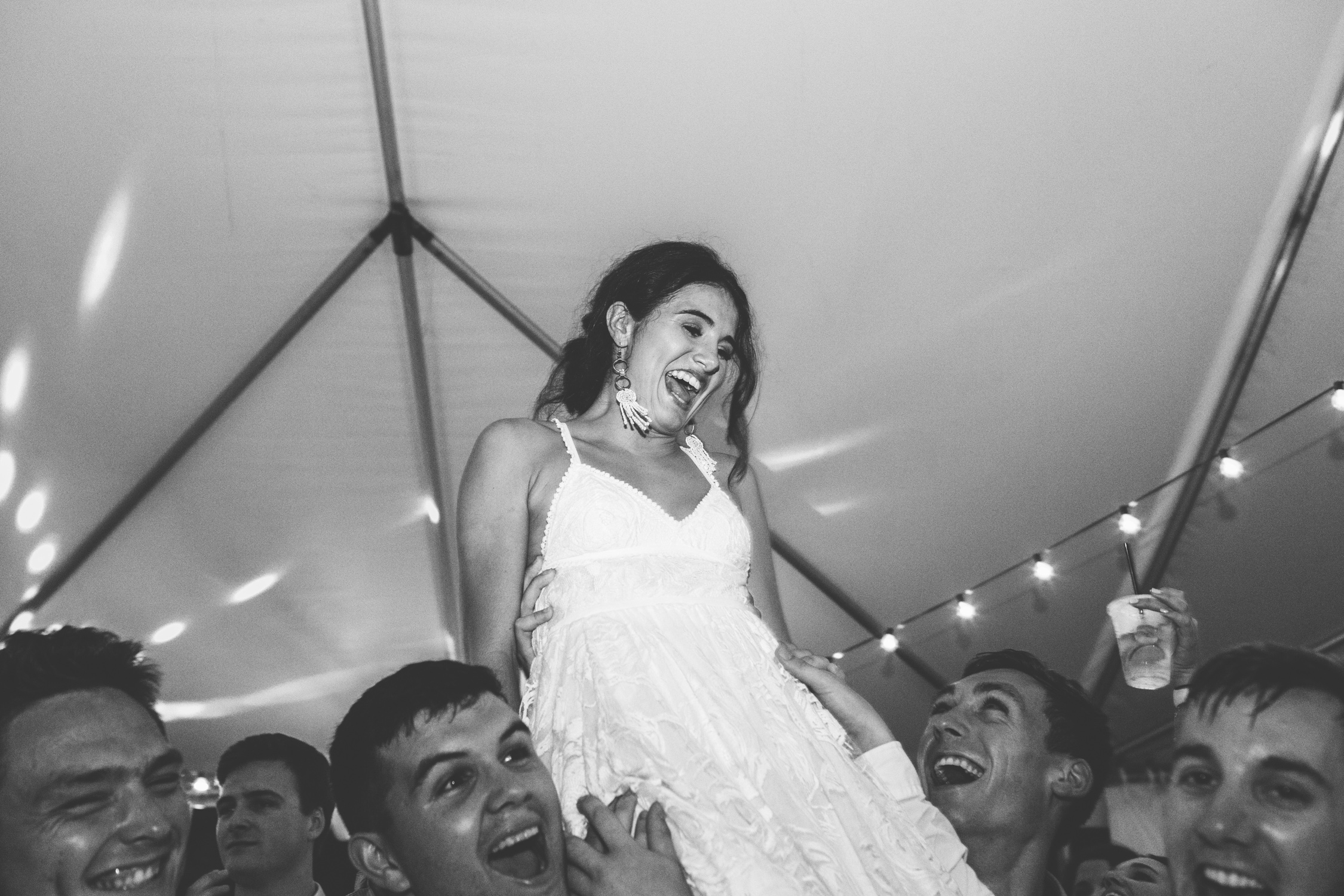 Knoxville Photographer Modern Bohemian Wedding Bride in the air