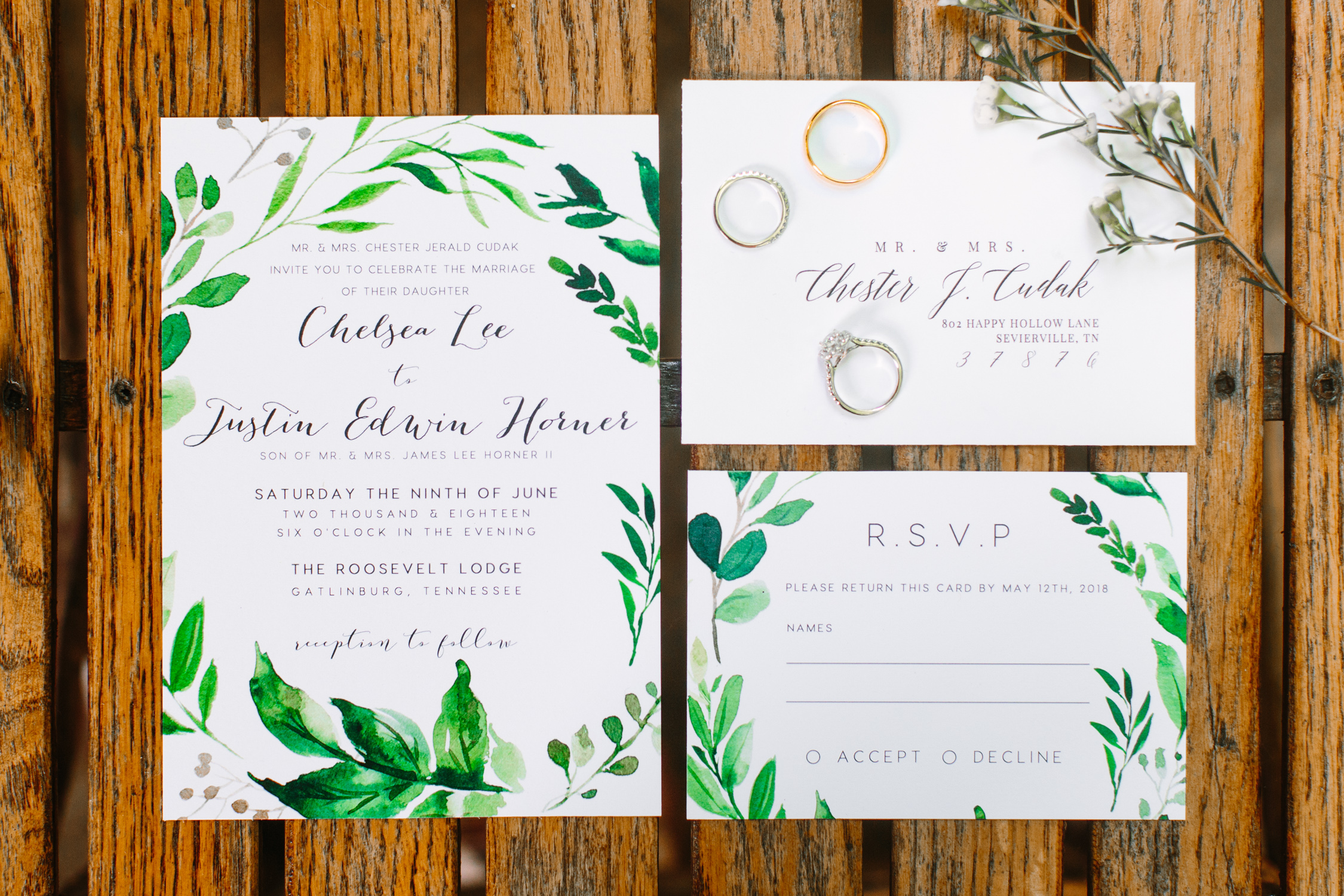 Knoxville Photographer Classic Outdoor Wedding Invitation Suite