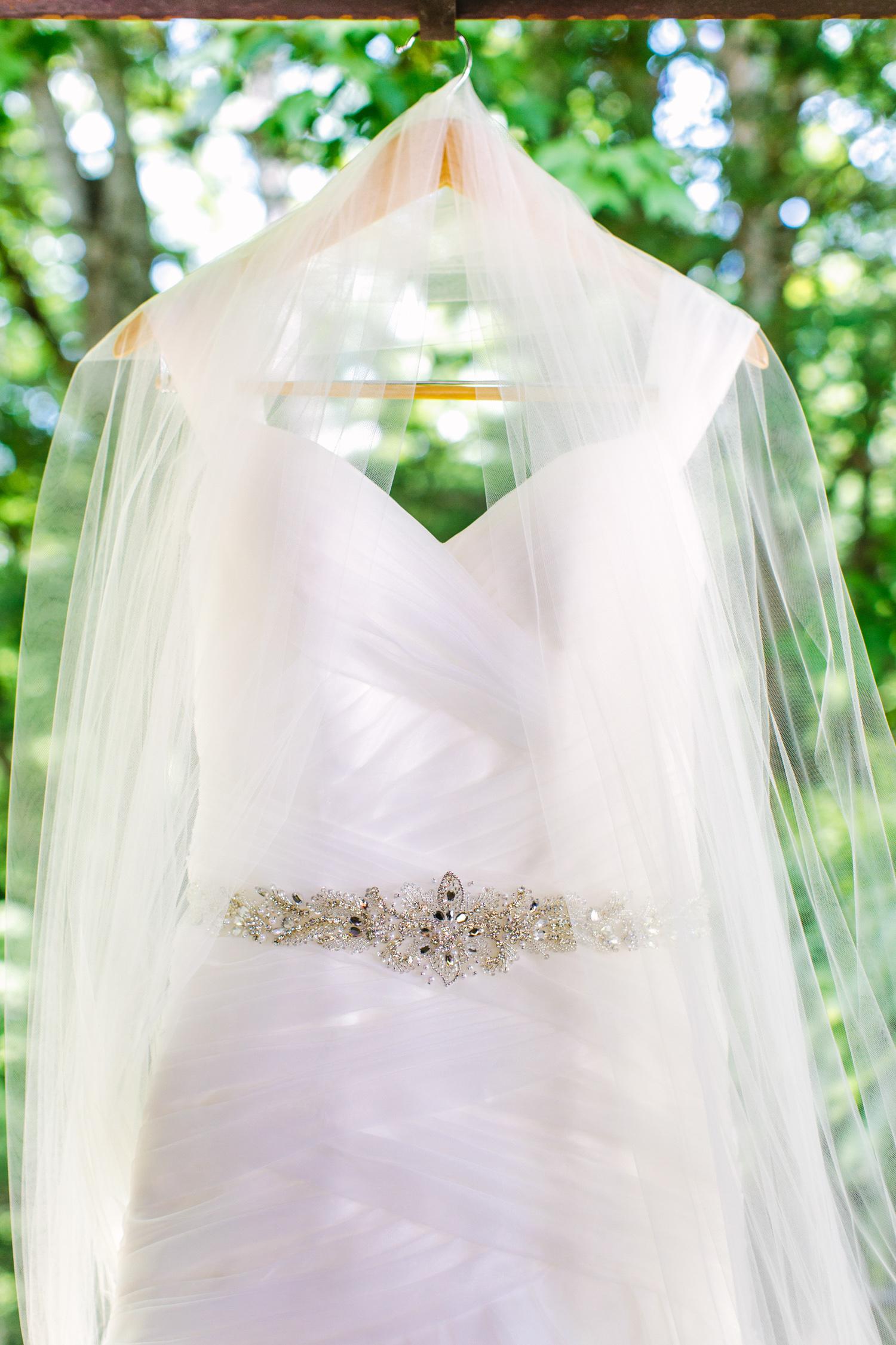 Knoxville Photographer Classic Outdoor Wedding Dress Veil