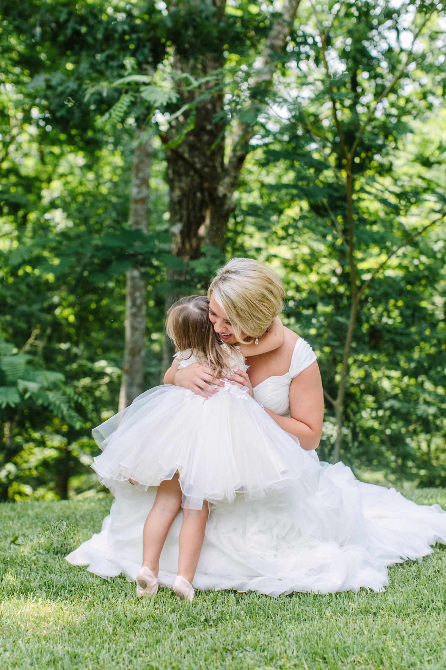 Knoxville Photographer Classic Outdoor Wedding Flower Girl Dress
