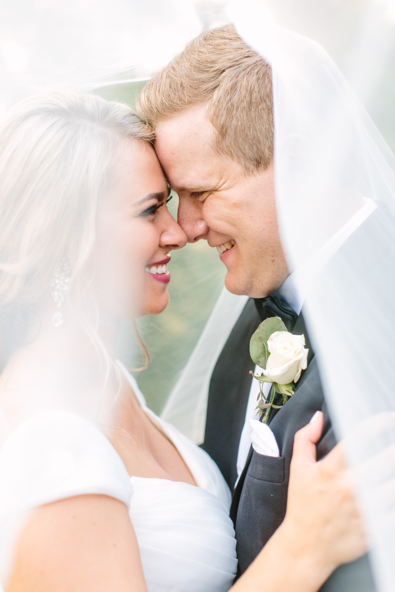 Knoxville Photographer Classic Outdoor Wedding Veil