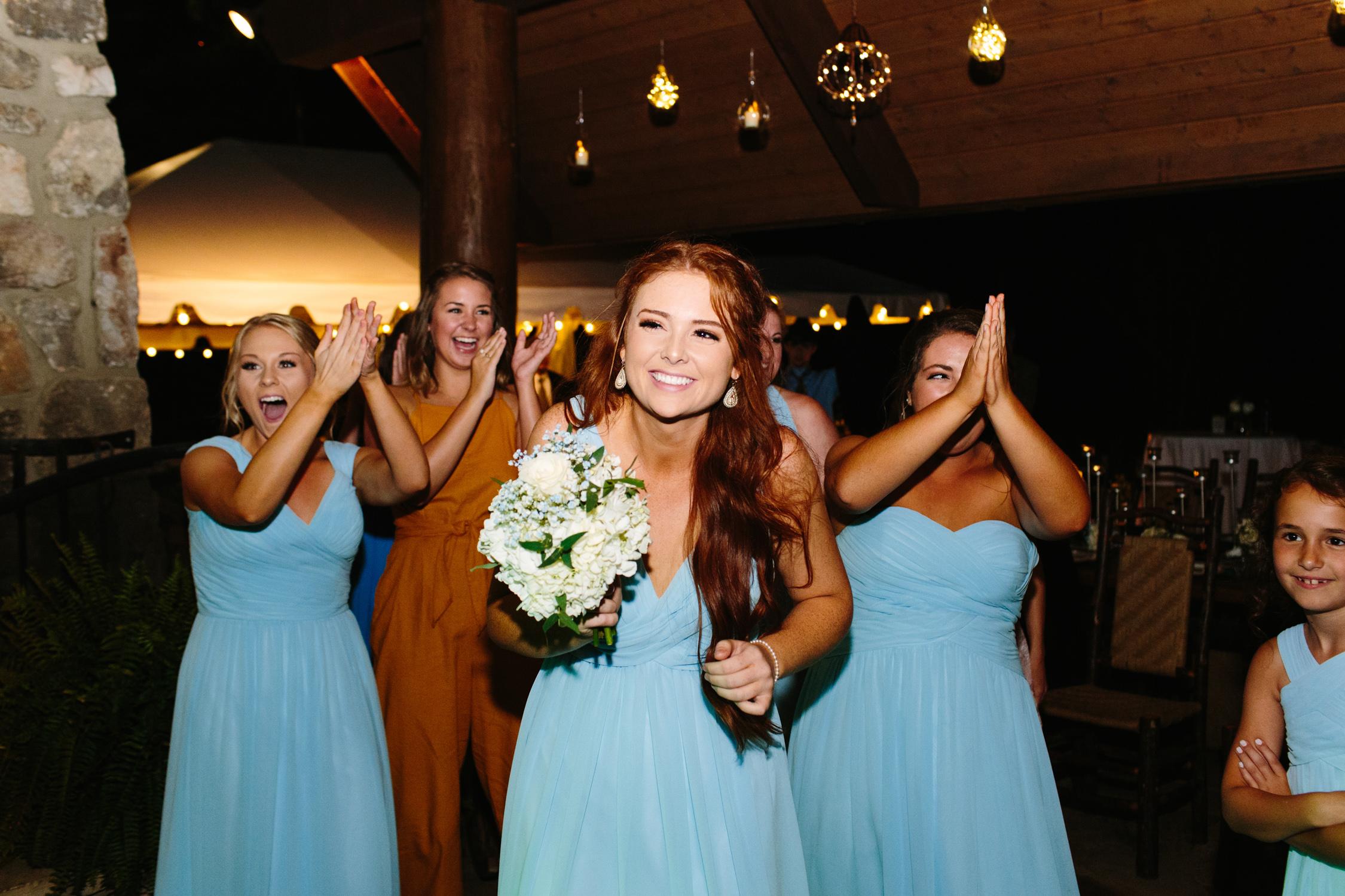 Knoxville Photographer Classic Outdoor Wedding Bouquet Toss
