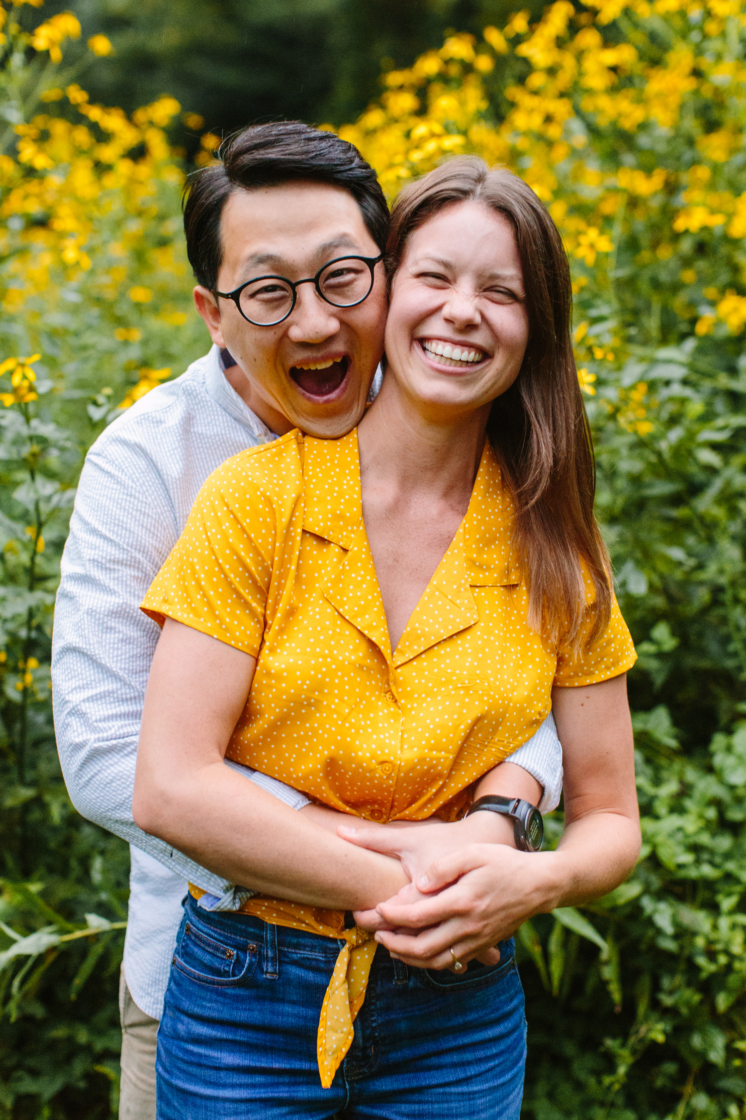 Sunflower Field Engagement Photos Max Patch // Suzy Collins Photography