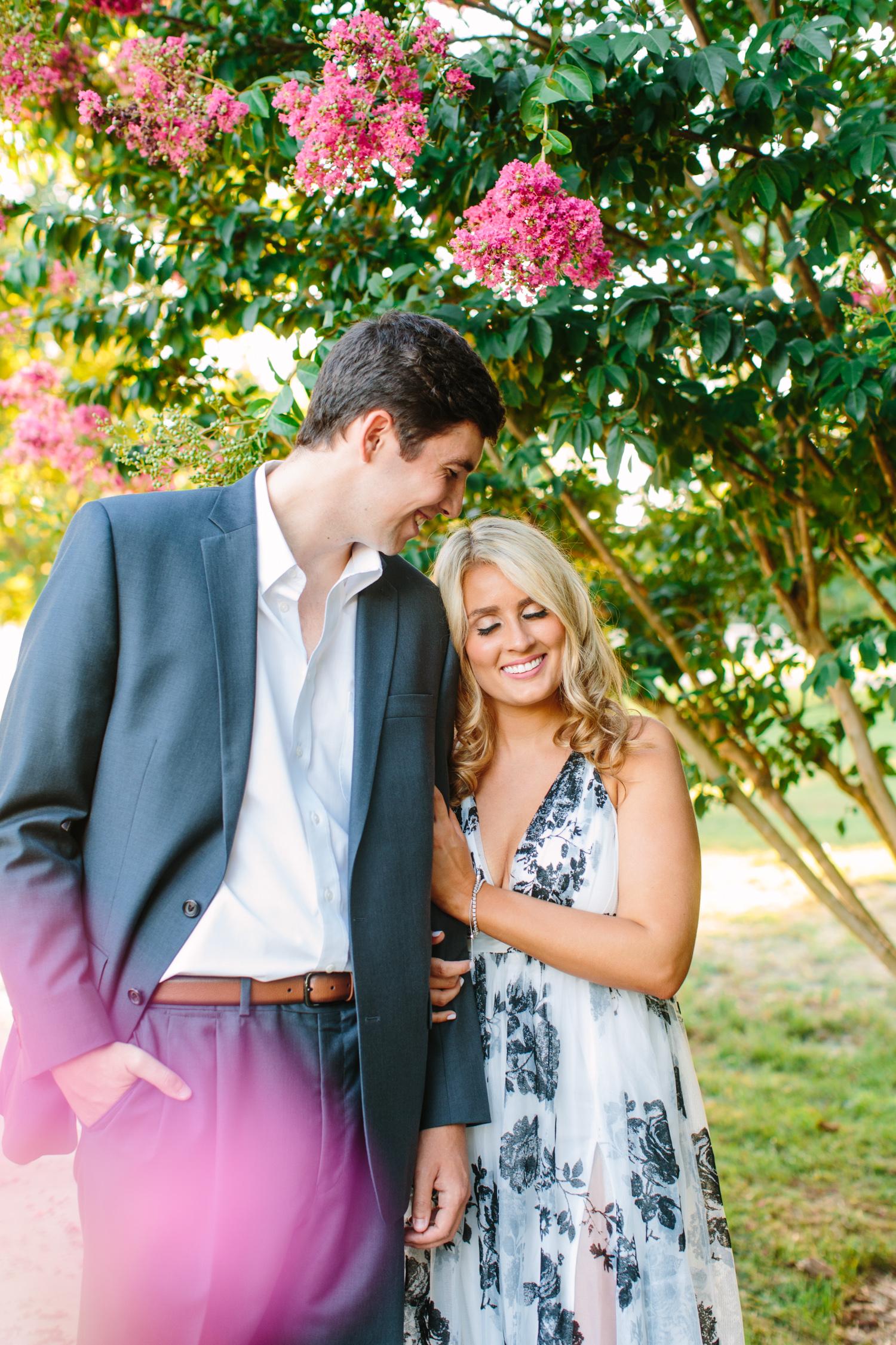 Garden Sunset Engagement Photos // Knoxville Photographer // Suzy Collins Photography