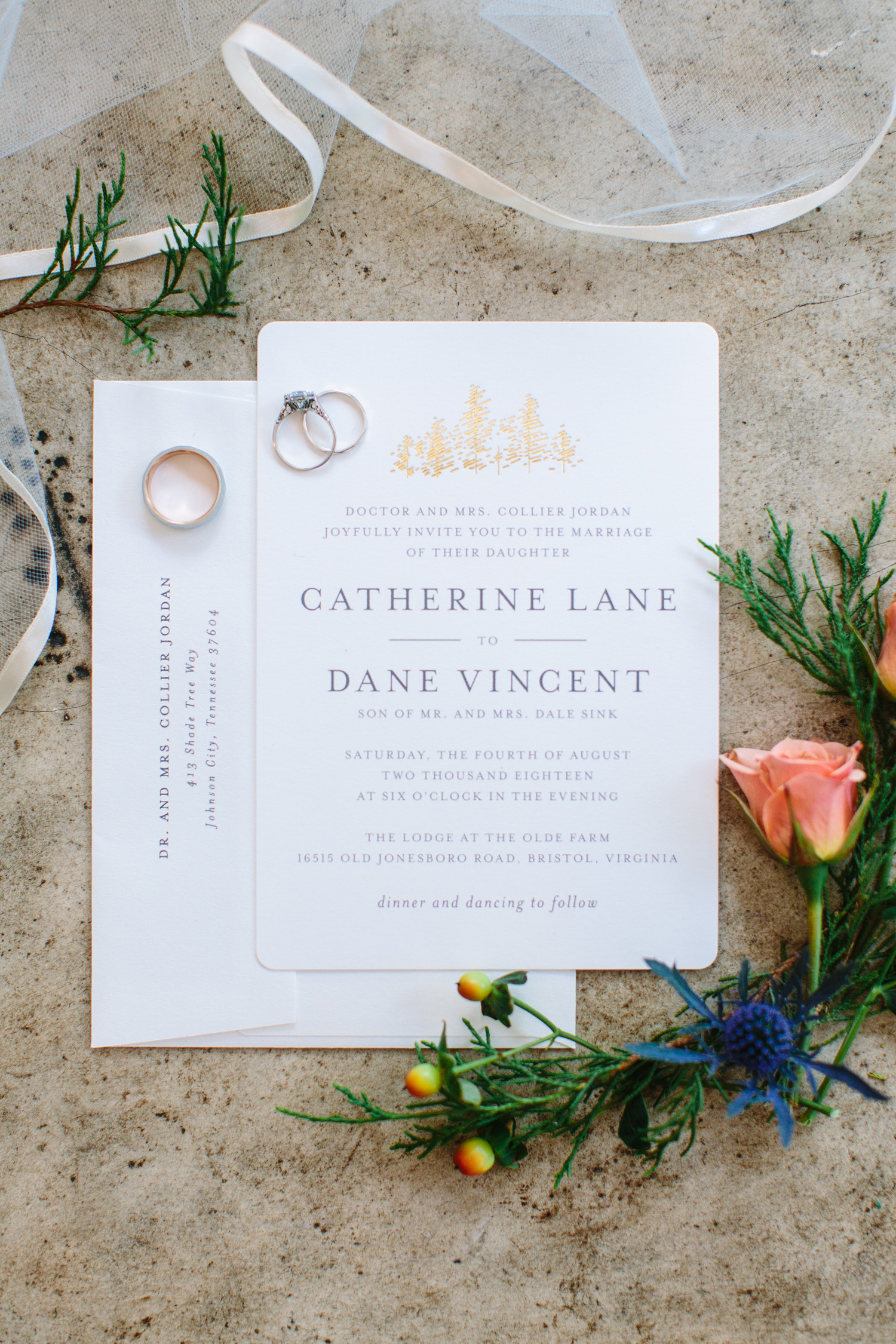 Romantic Pavilion Wedding // Tennessee Photographer // Suzy Collins Photography // The Olde Farm // Invitation Suite
