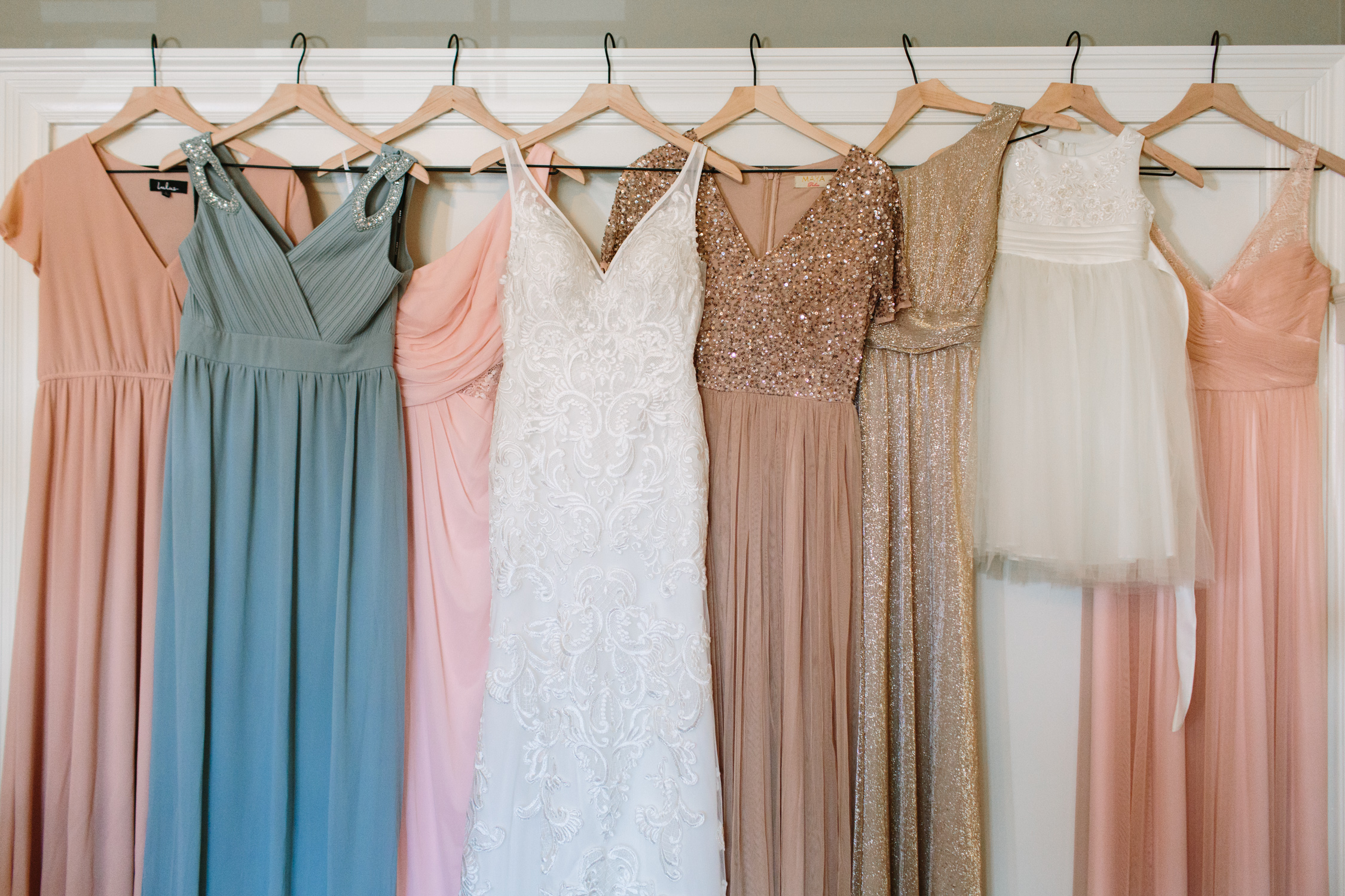 Multicolor Bridesmaid Dresses // Tennessee Photographer // Suzy Collins Photography // The Olde Farm