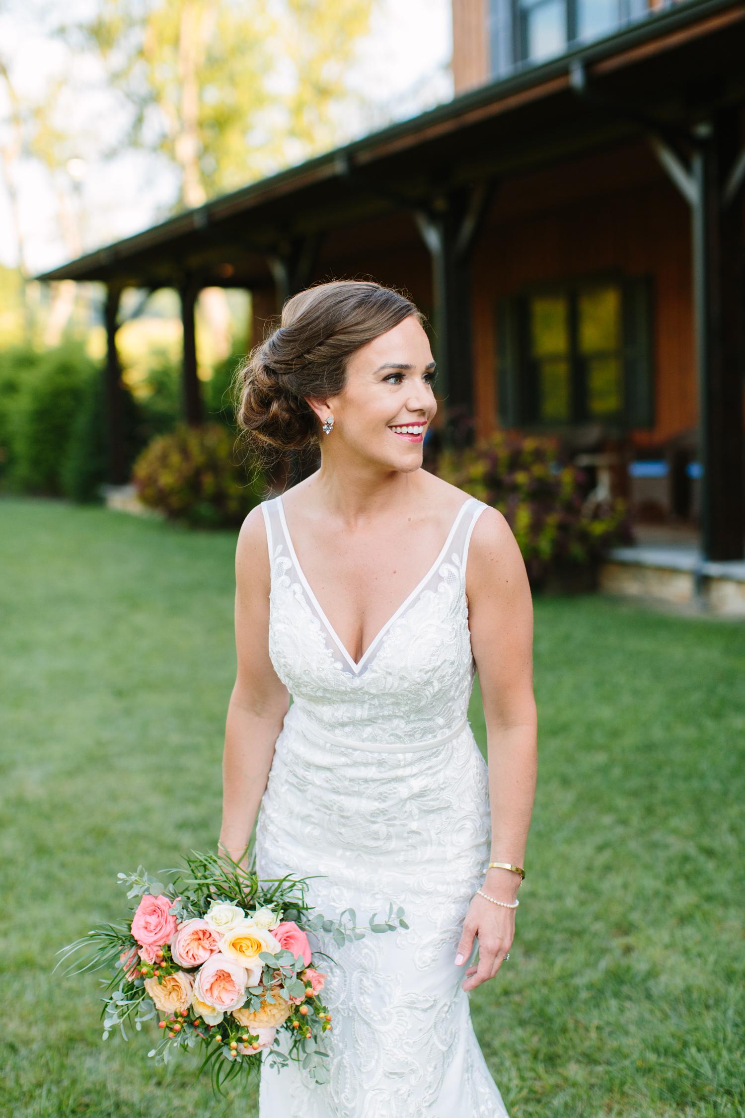 Bridal Portraits Romantic Pavilion Wedding // Tennessee Photographer // Suzy Collins Photography // The Olde Farm