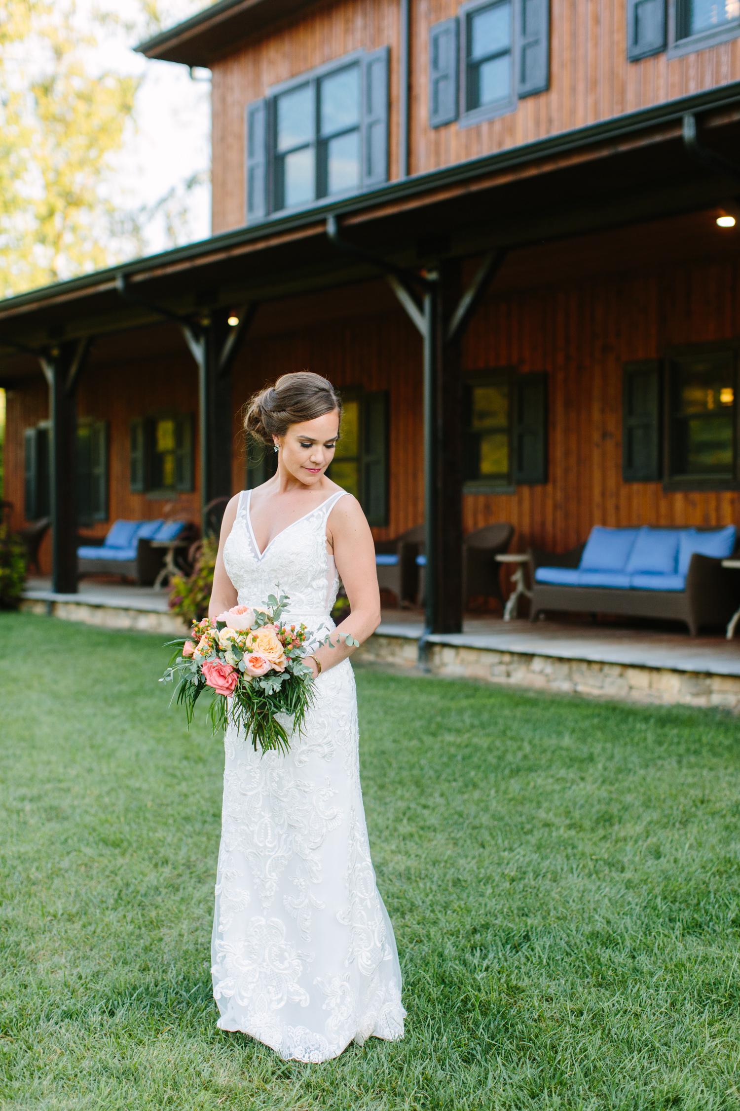 Bridal Portrait Romantic Pavilion Wedding // Tennessee Photographer // Suzy Collins Photography // The Olde Farm
