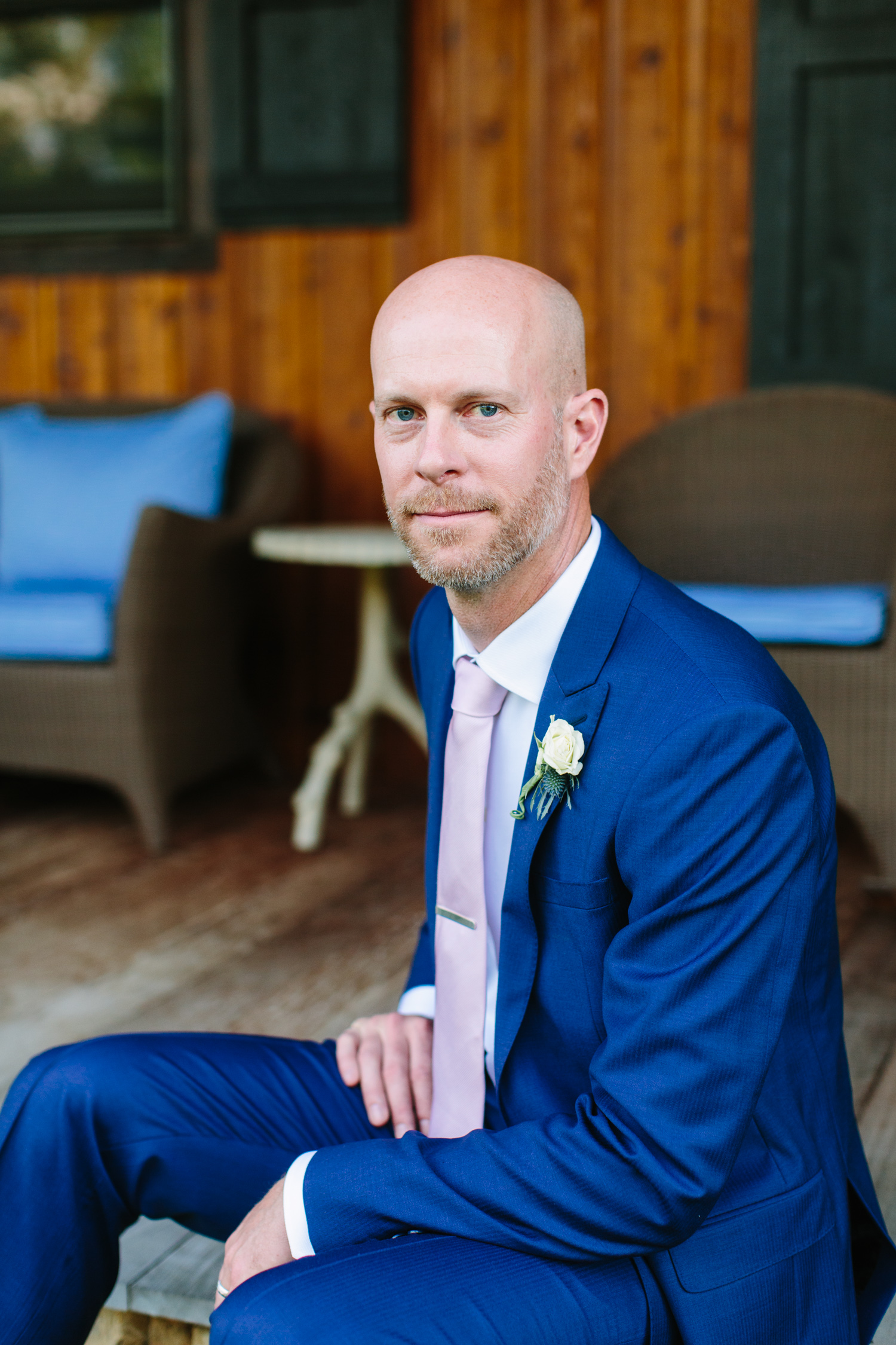 Groom Portraits Romantic Pavilion Wedding // Tennessee Photographer // Suzy Collins Photography // The Olde Farm