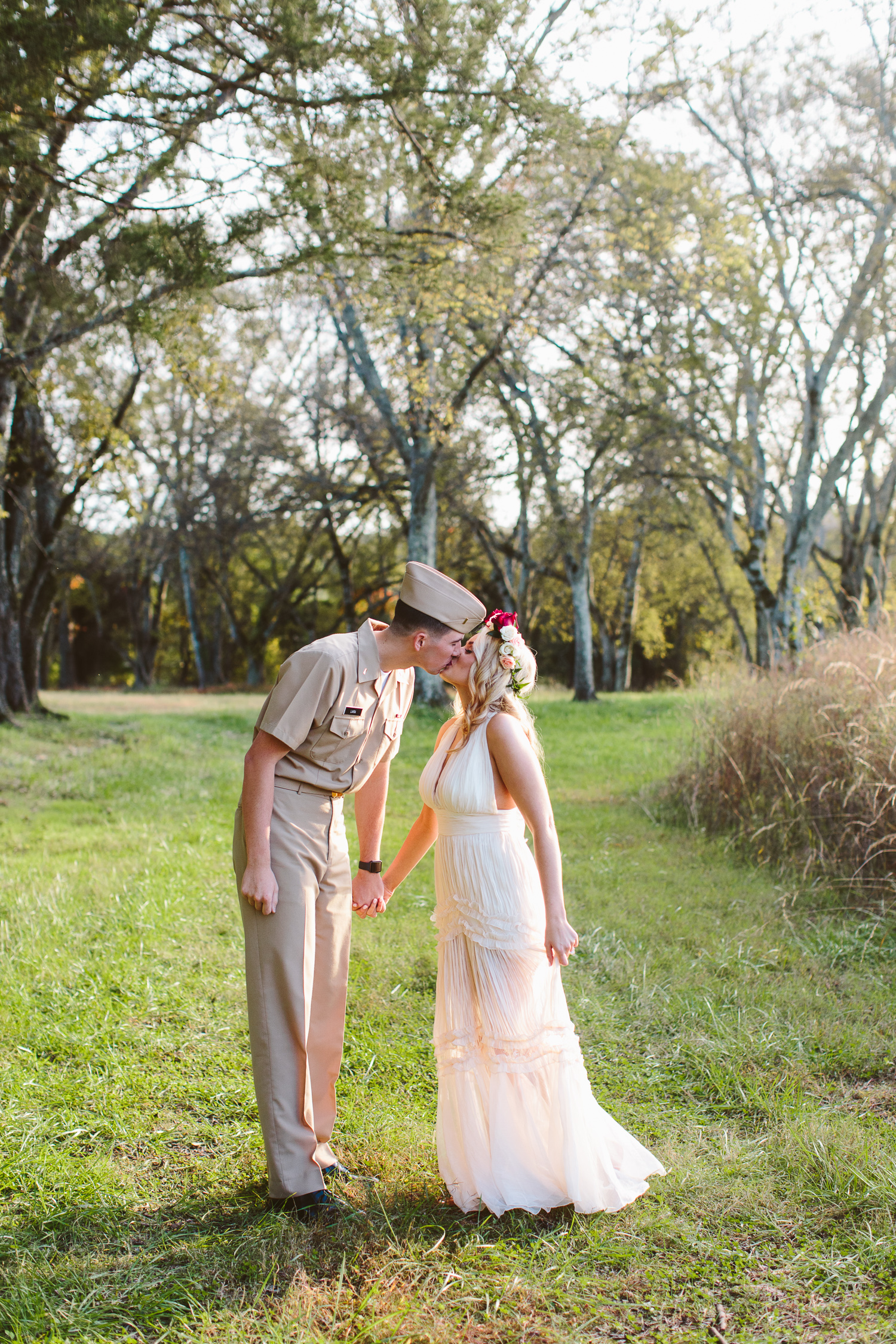 Military Photoshoot in Uniform // Navy Wife // Military Couple Engagement Photos // Suzy Collins Photography // Knoxville Photographer
