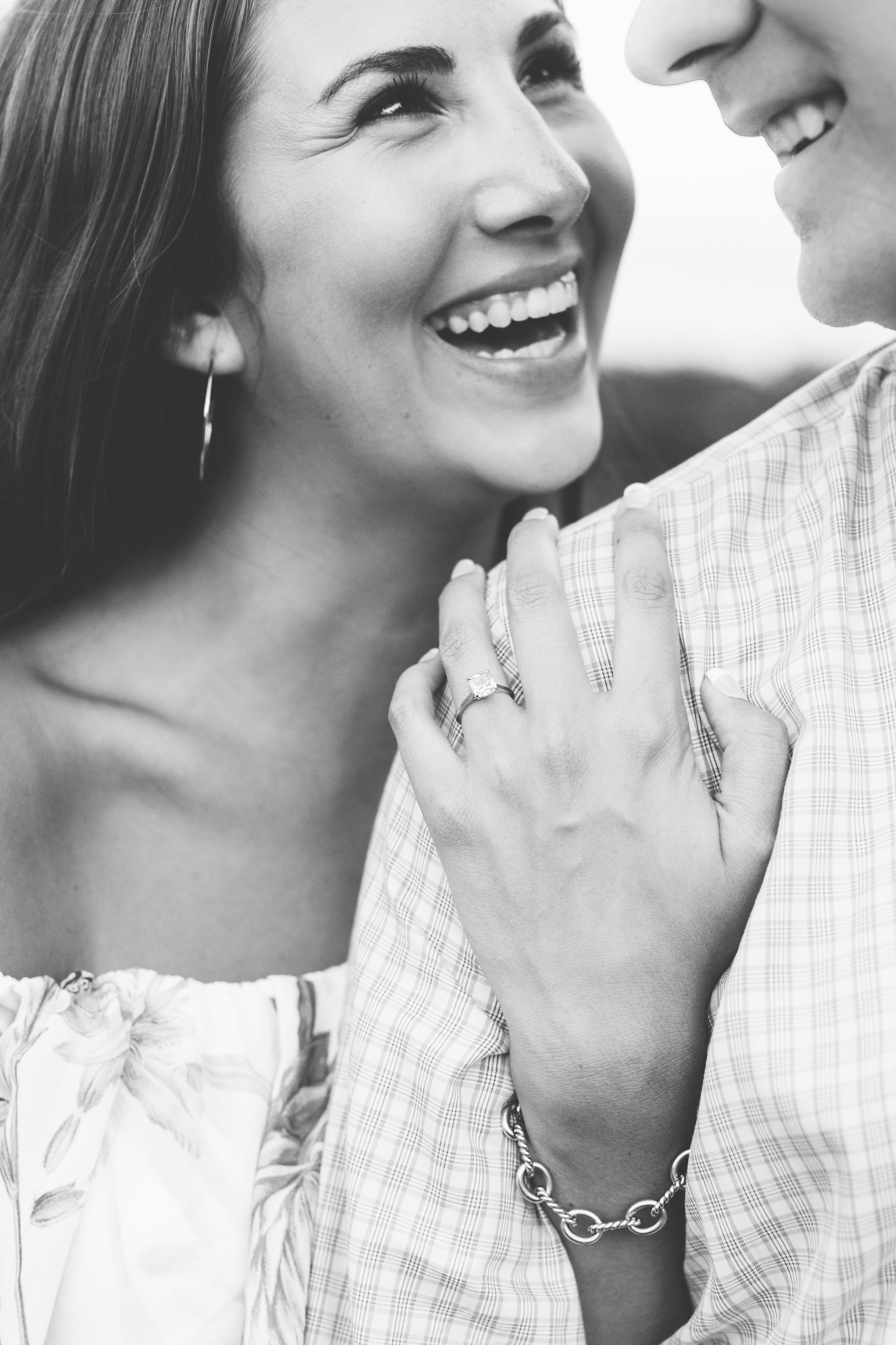 Intimate sunset engagement by Suzy Collins Photography