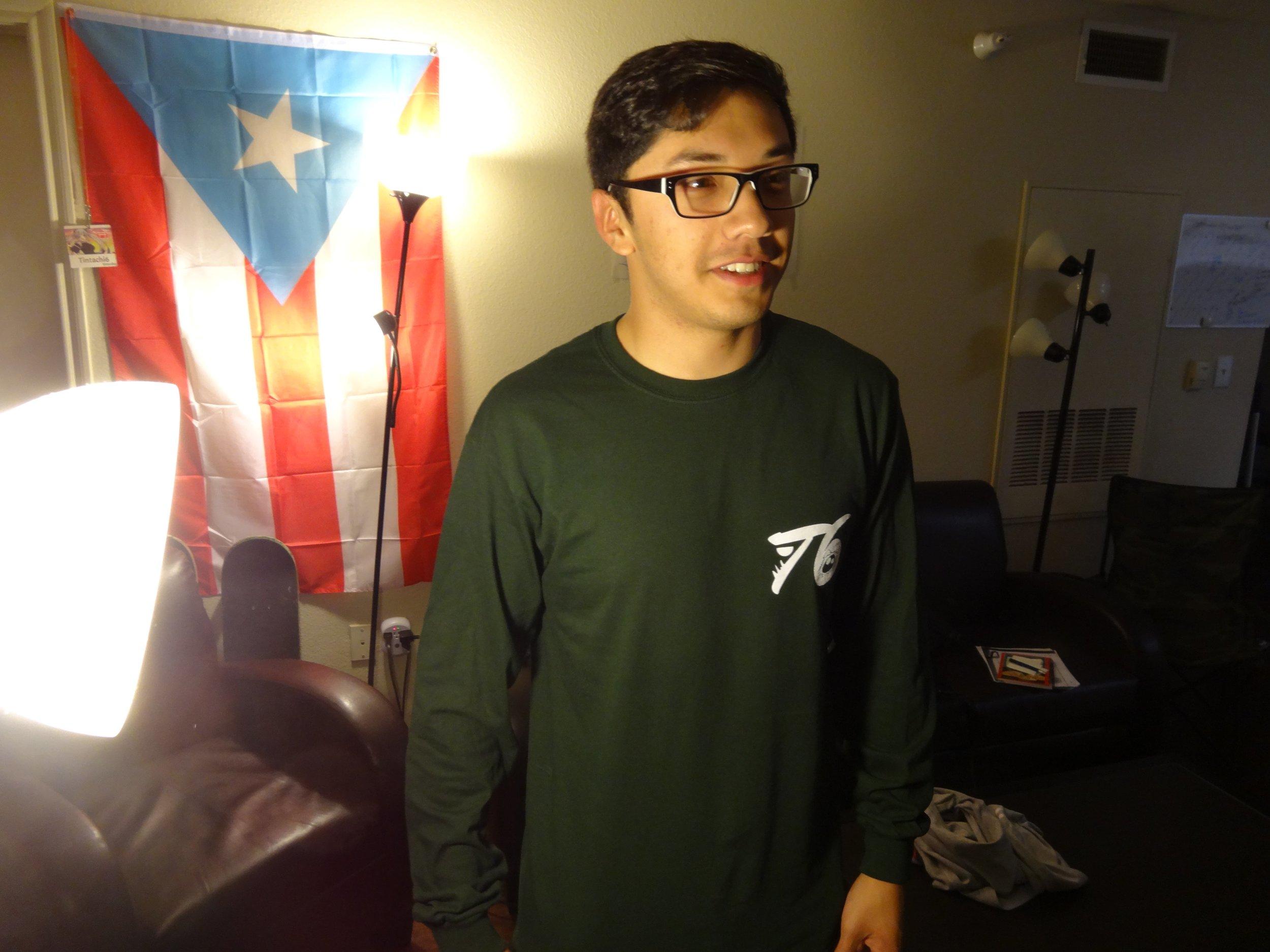 Front Forest Green Long Sleeve Shirt