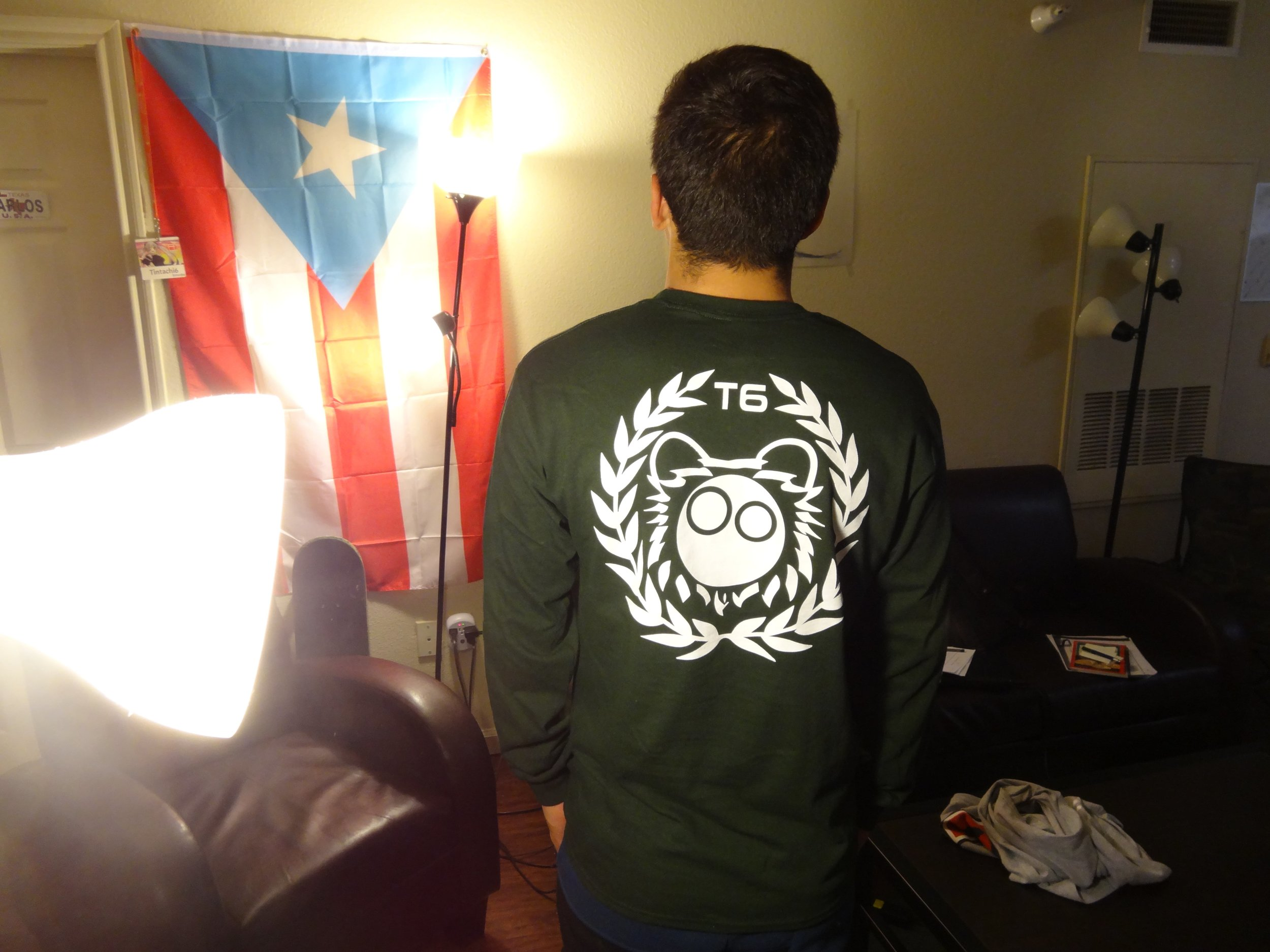 Back Forest Green Long Sleeve Shirt