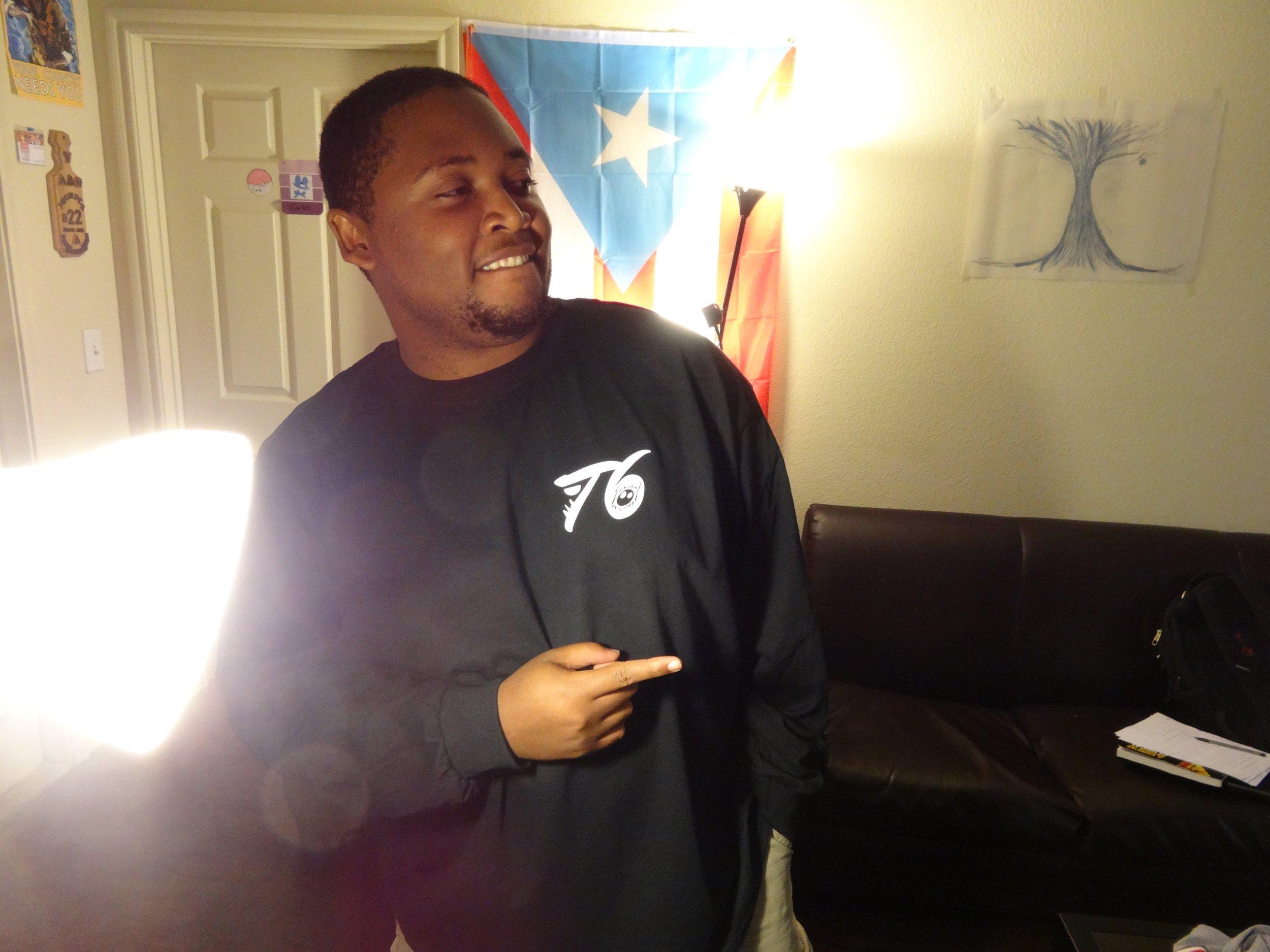Front Black Long Sleeve Shirt