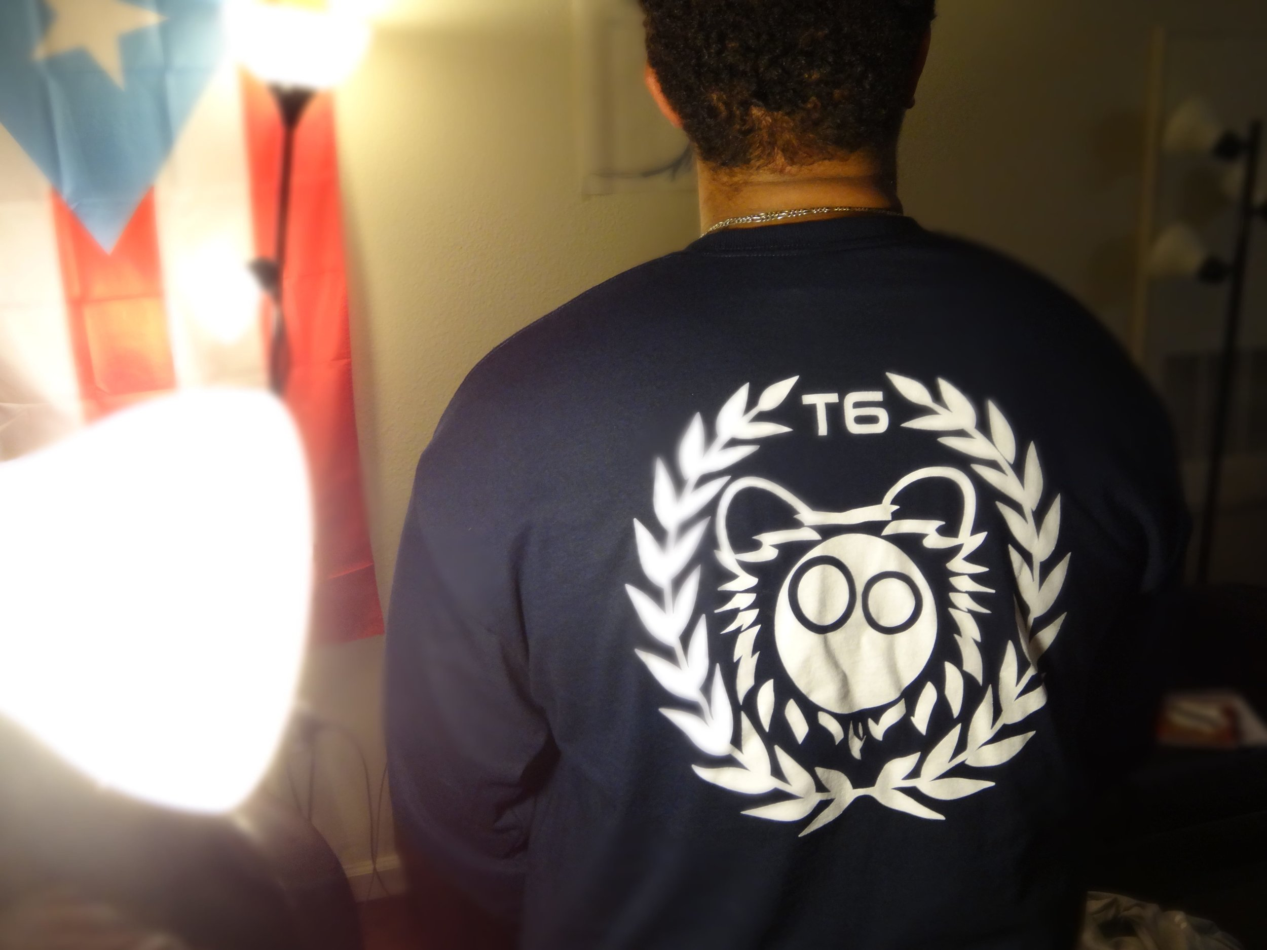 Back Navy Blue Long Sleeve Shirt