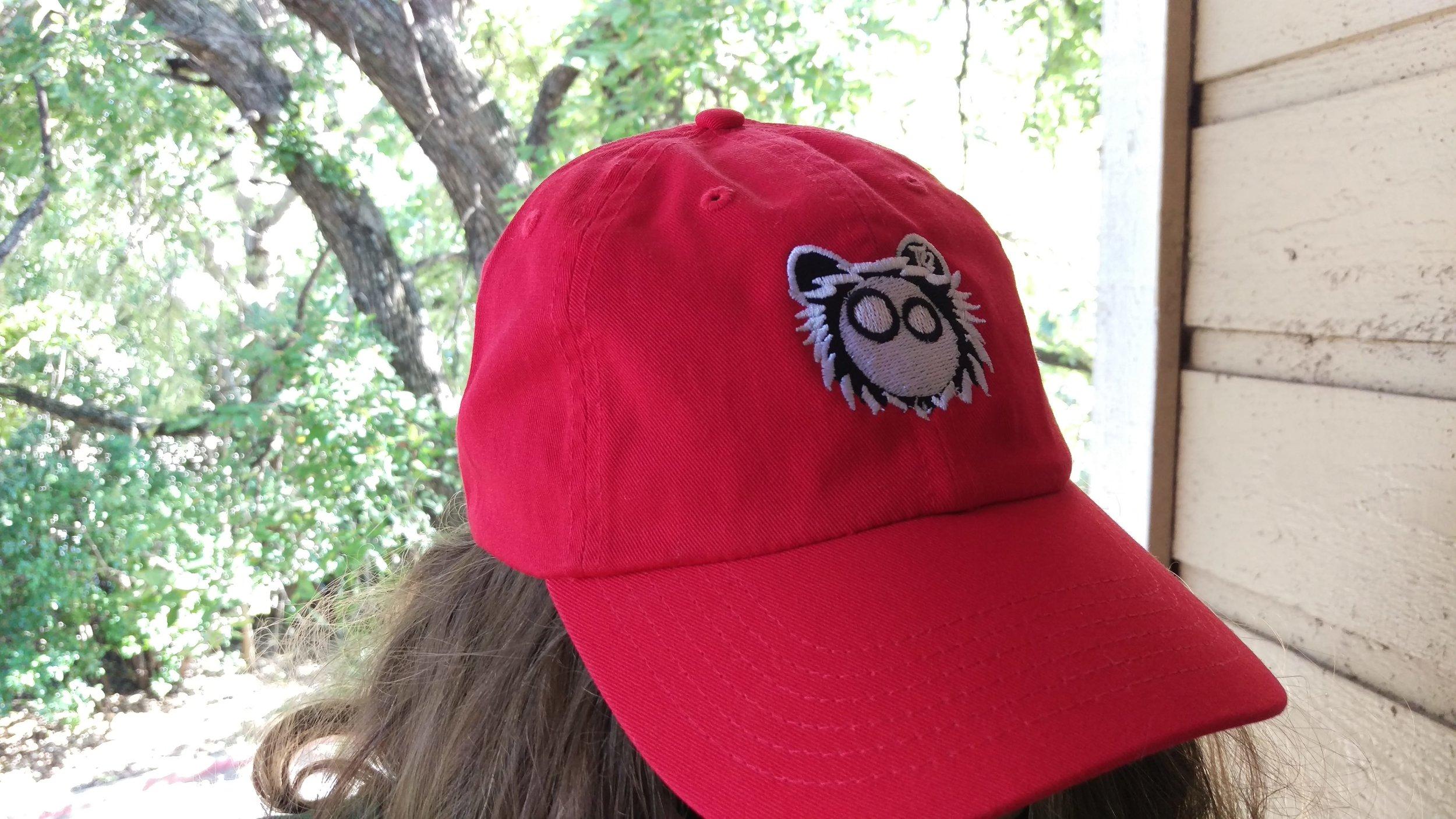 Red Dad Hat White Logo