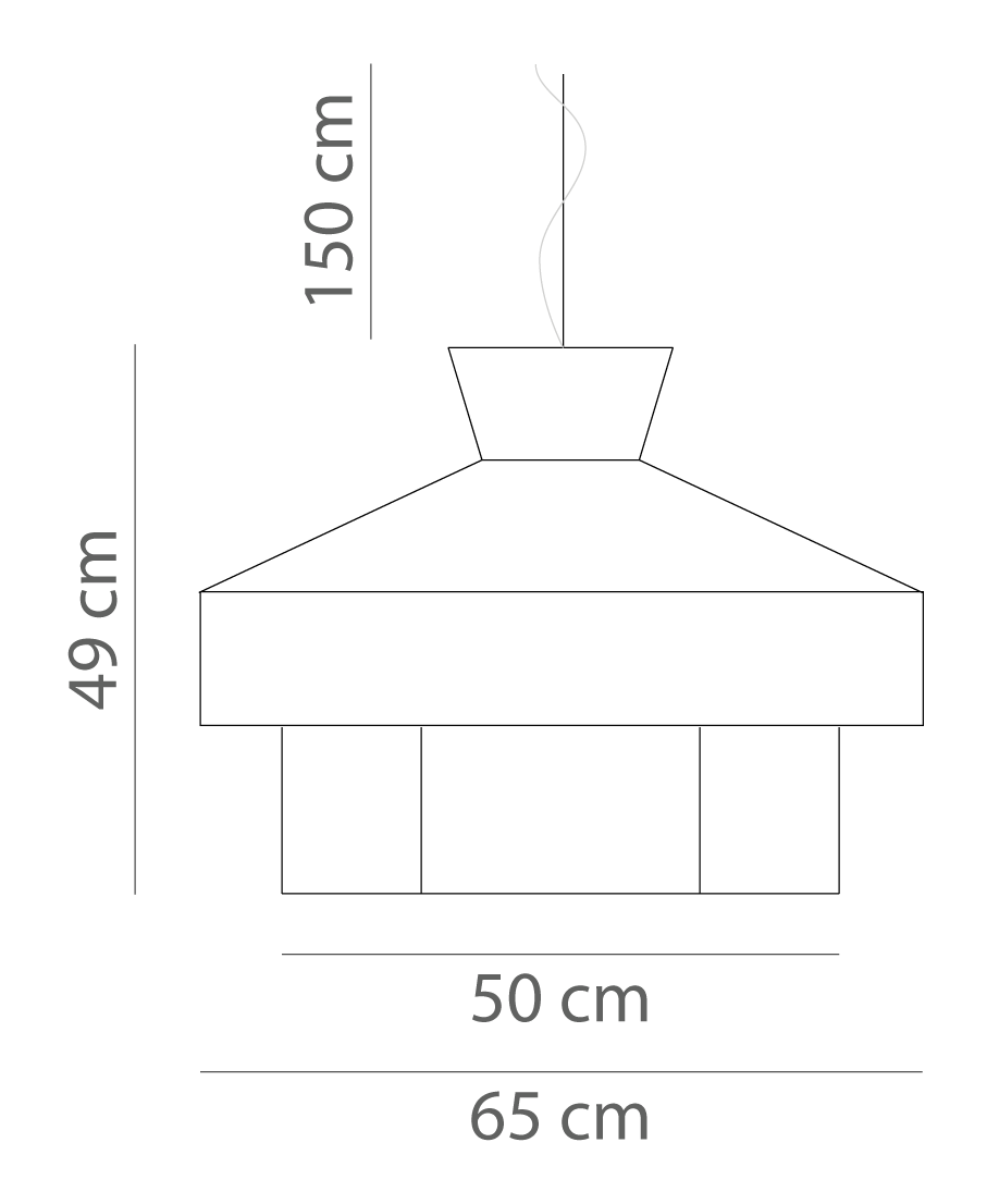 - Lampshade:Rattan, Jaquard fabricsLight diffuser:ParchmentLighting specifications:Bulb CE1x13W E27 LED BulbCable: 3 core fabric flex cable - 150 cm - Black