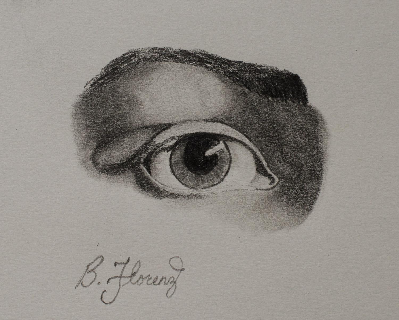 Eye study 1, pencil