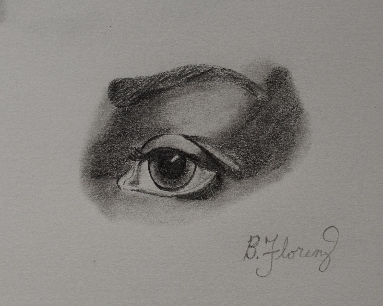Eye study 2, pencil