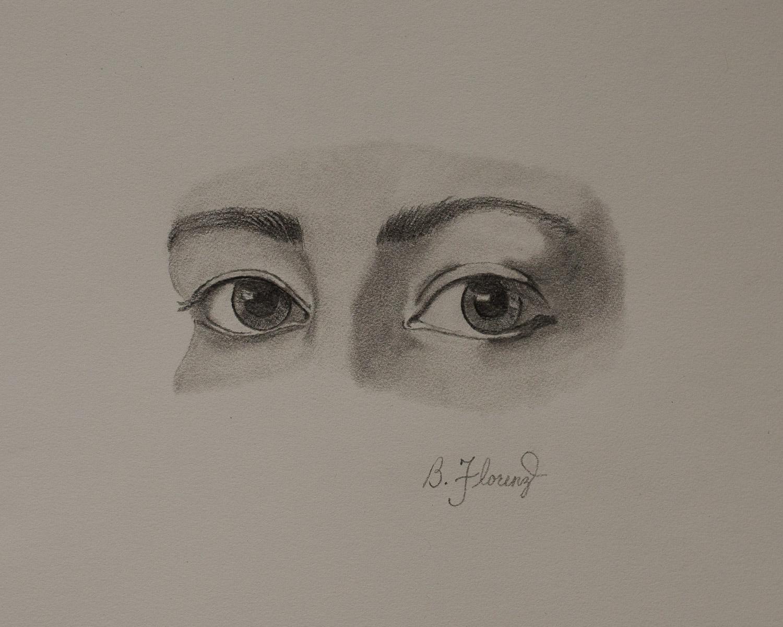 Eye study 3, pencil