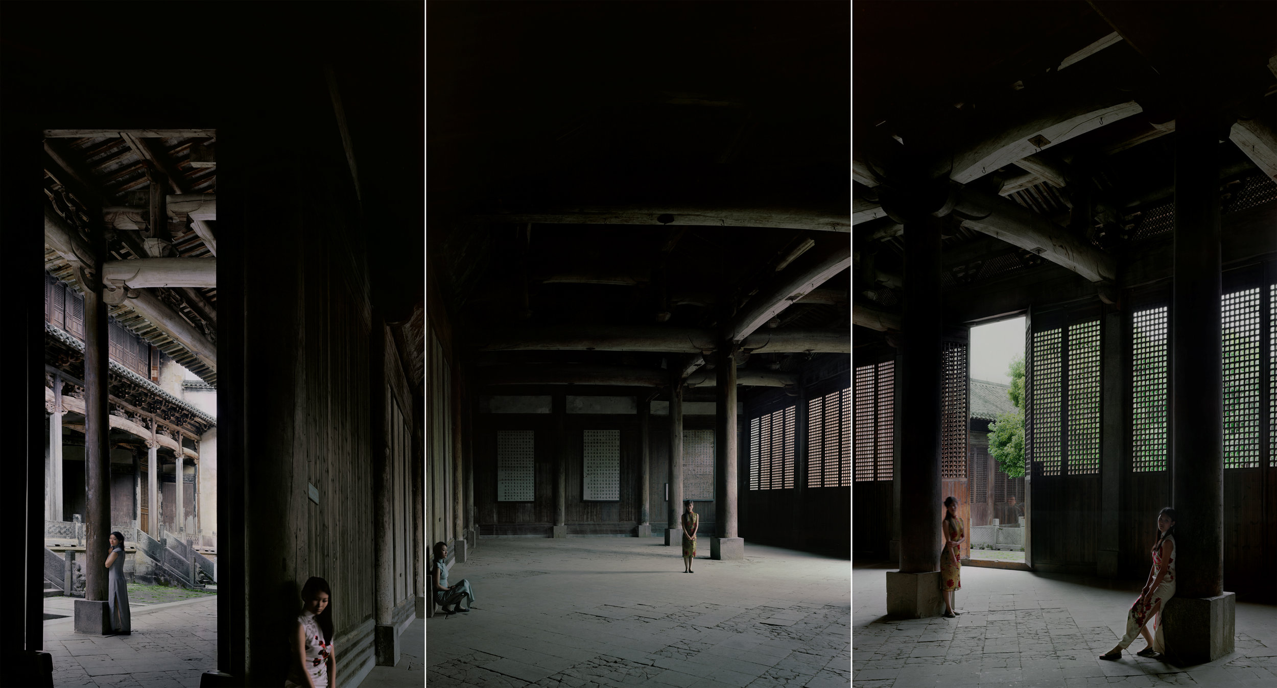 AnHui-Bao Lunge No. 2 (Double Rhapsody Series), 2011, 47.2 x 87.4 inches, Chromogenic photograph