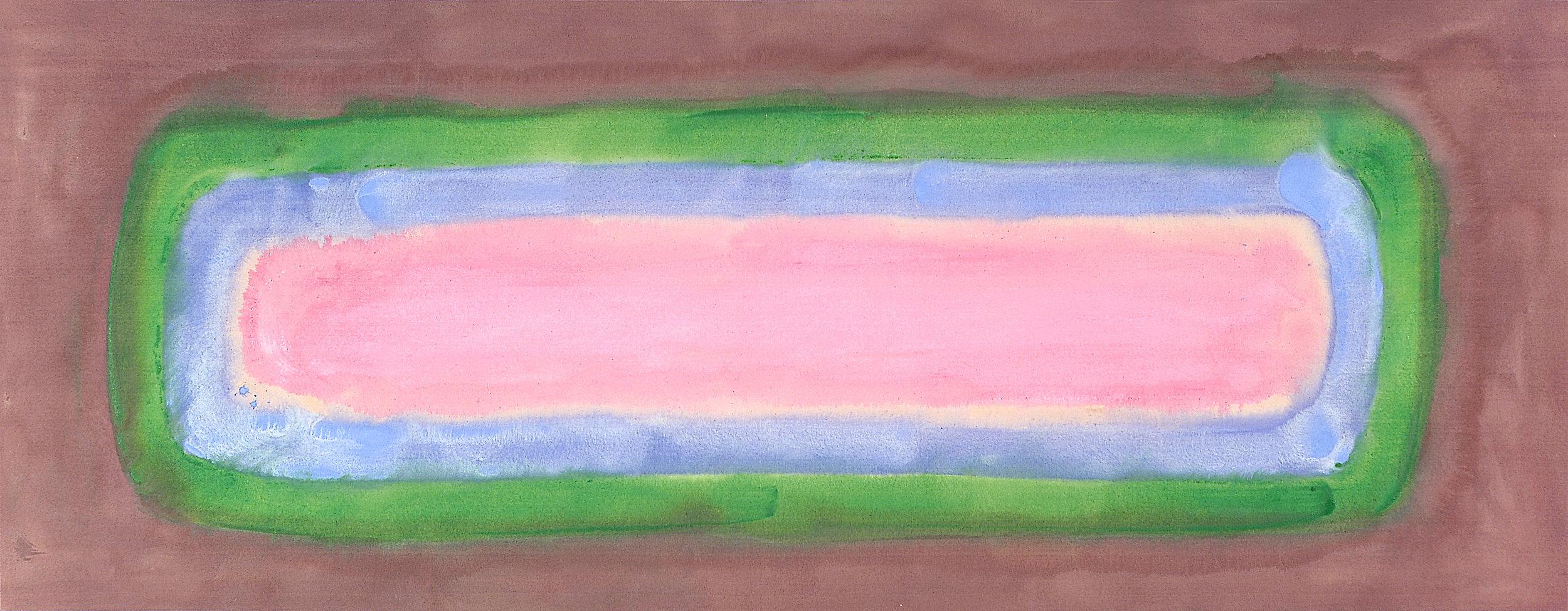 AC-87-129, 1987, 44 x 113 inches, Acrylic on canvas
