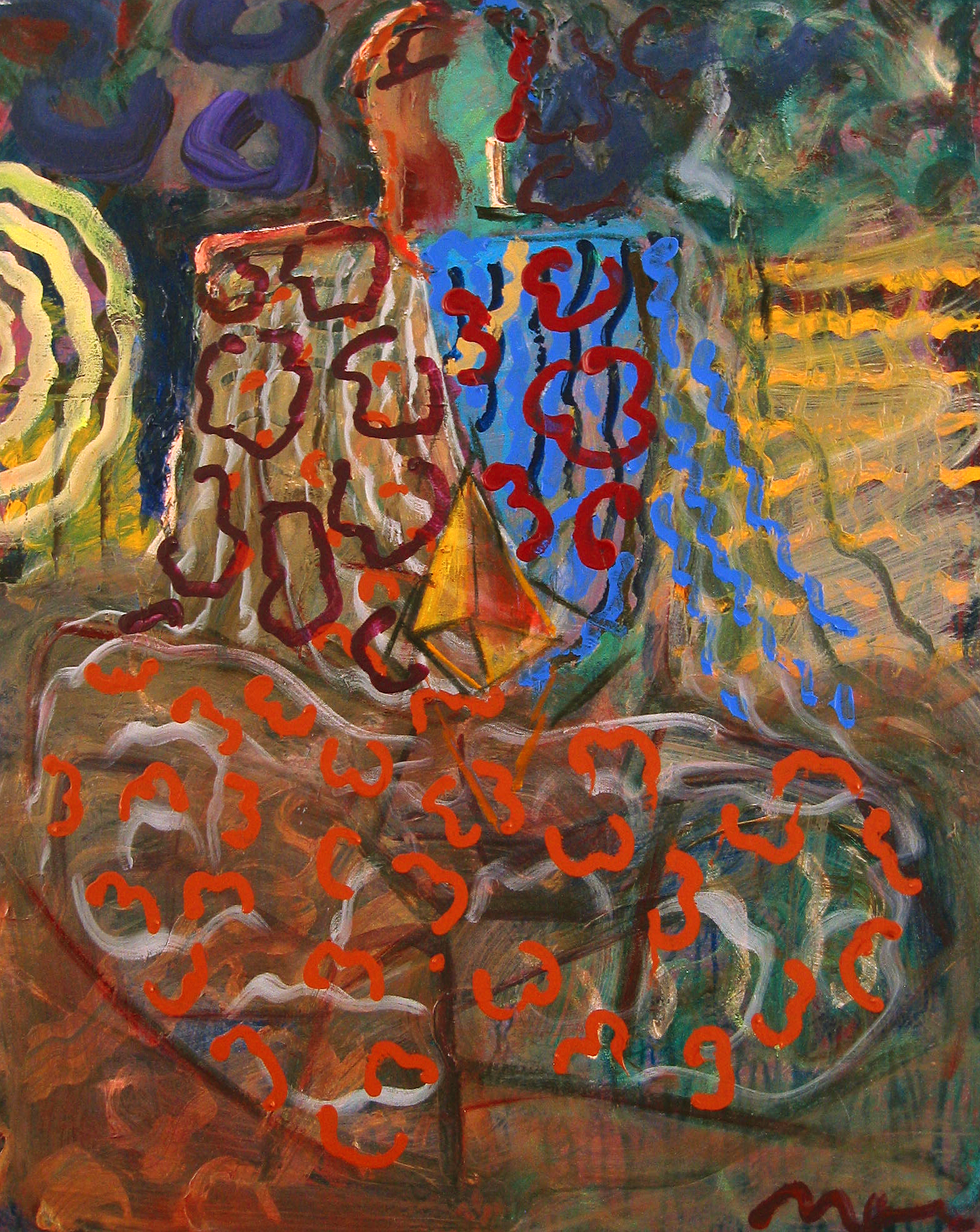 Diamond Twilight, 2006, 24 x 30 inches, Acrylic on canvas