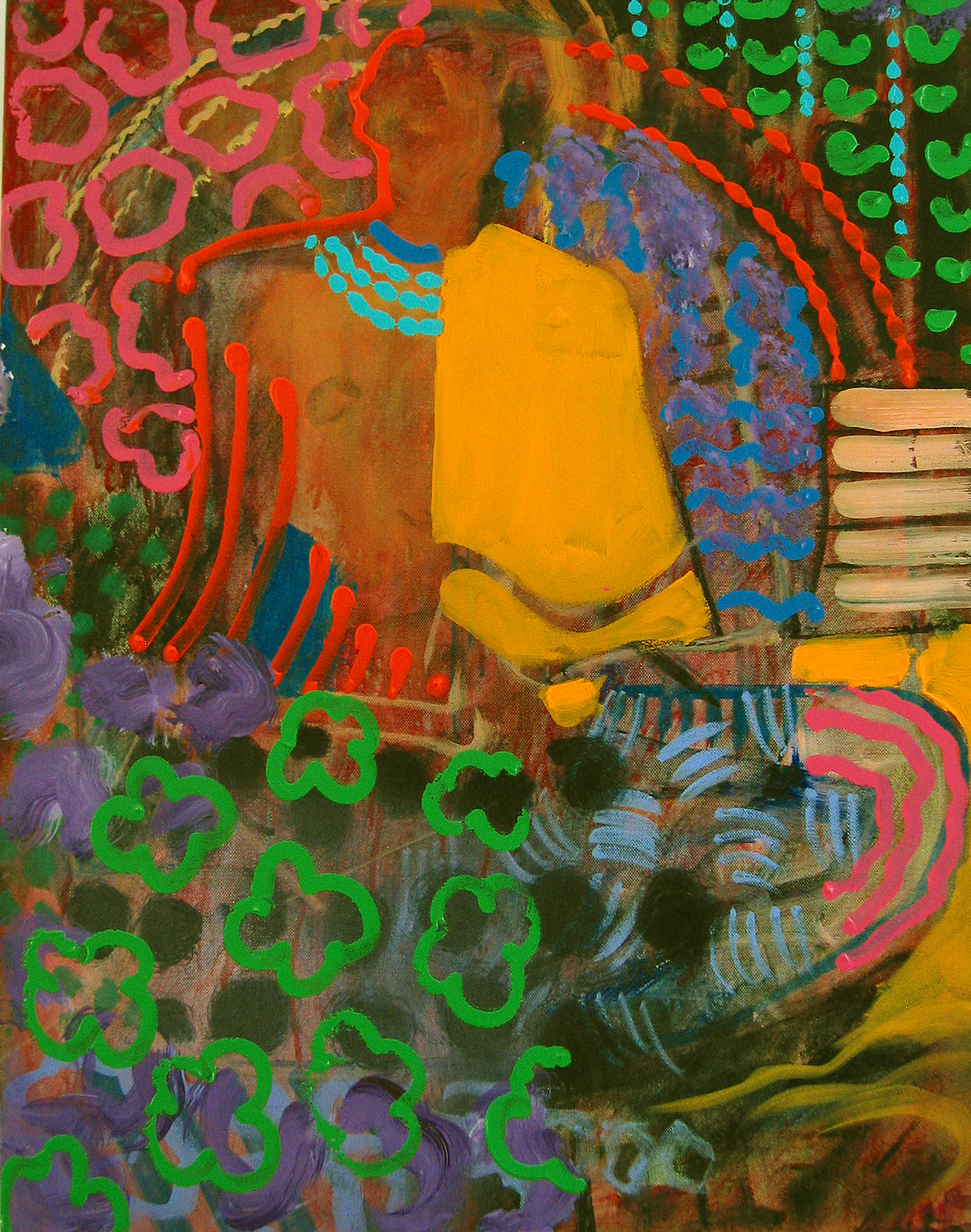 Blue Mirror, 2006, 22x 28 inches, Acrylic on canvas